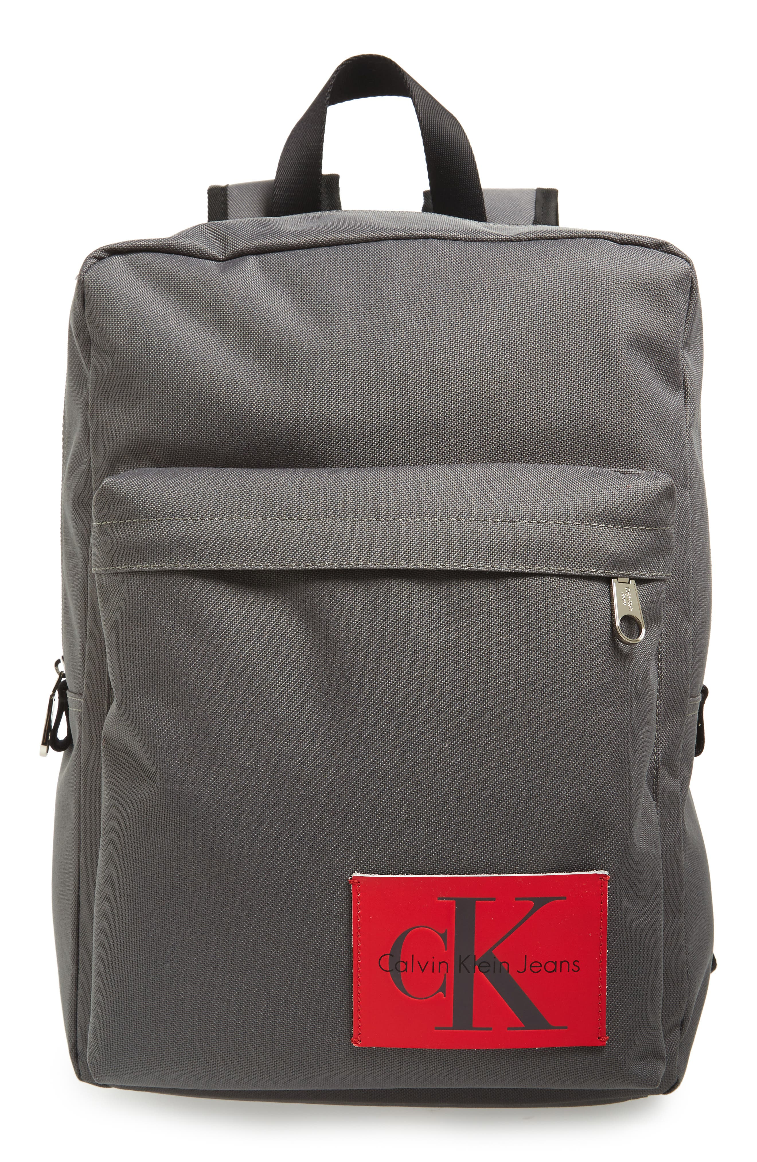 SLIM SQUARE BACKPACK - GREY