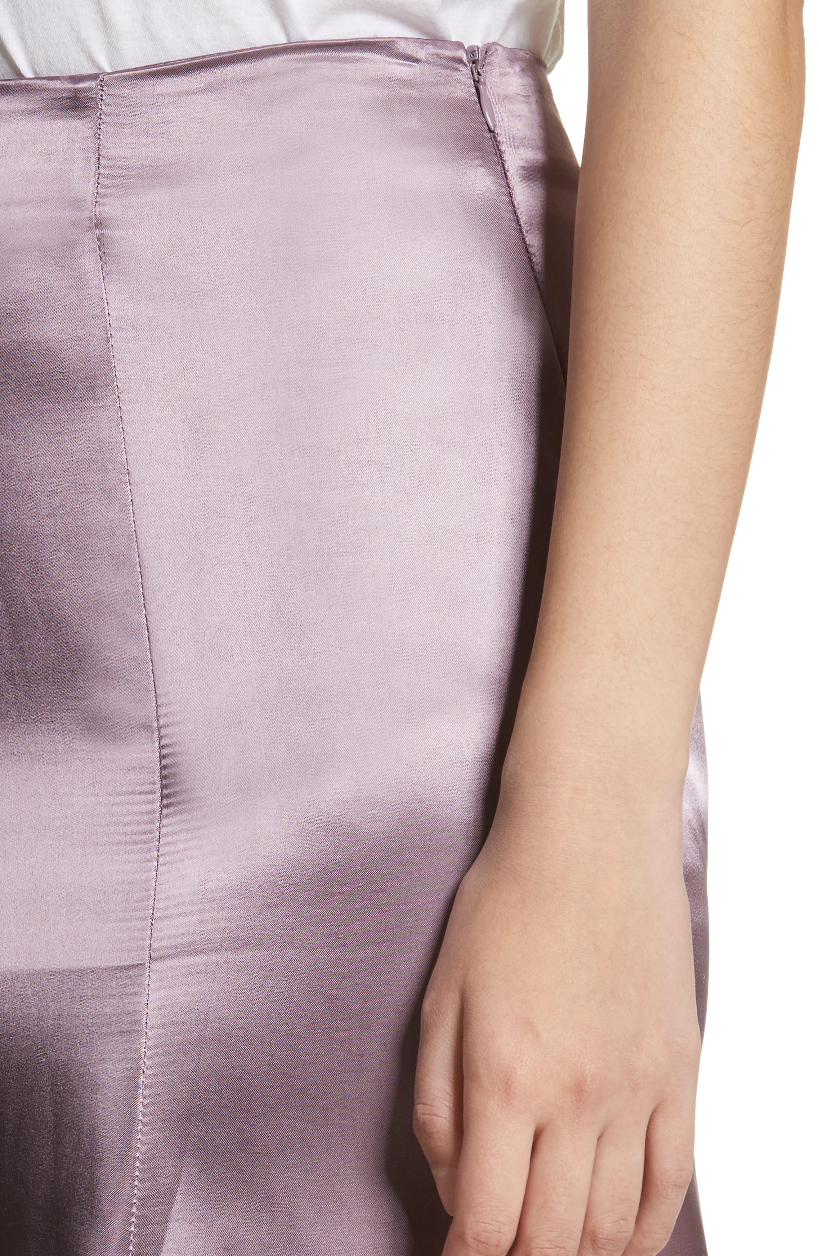 Cassini Satin Slip Skirt,                             Alternate thumbnail 4, color,                             Violet