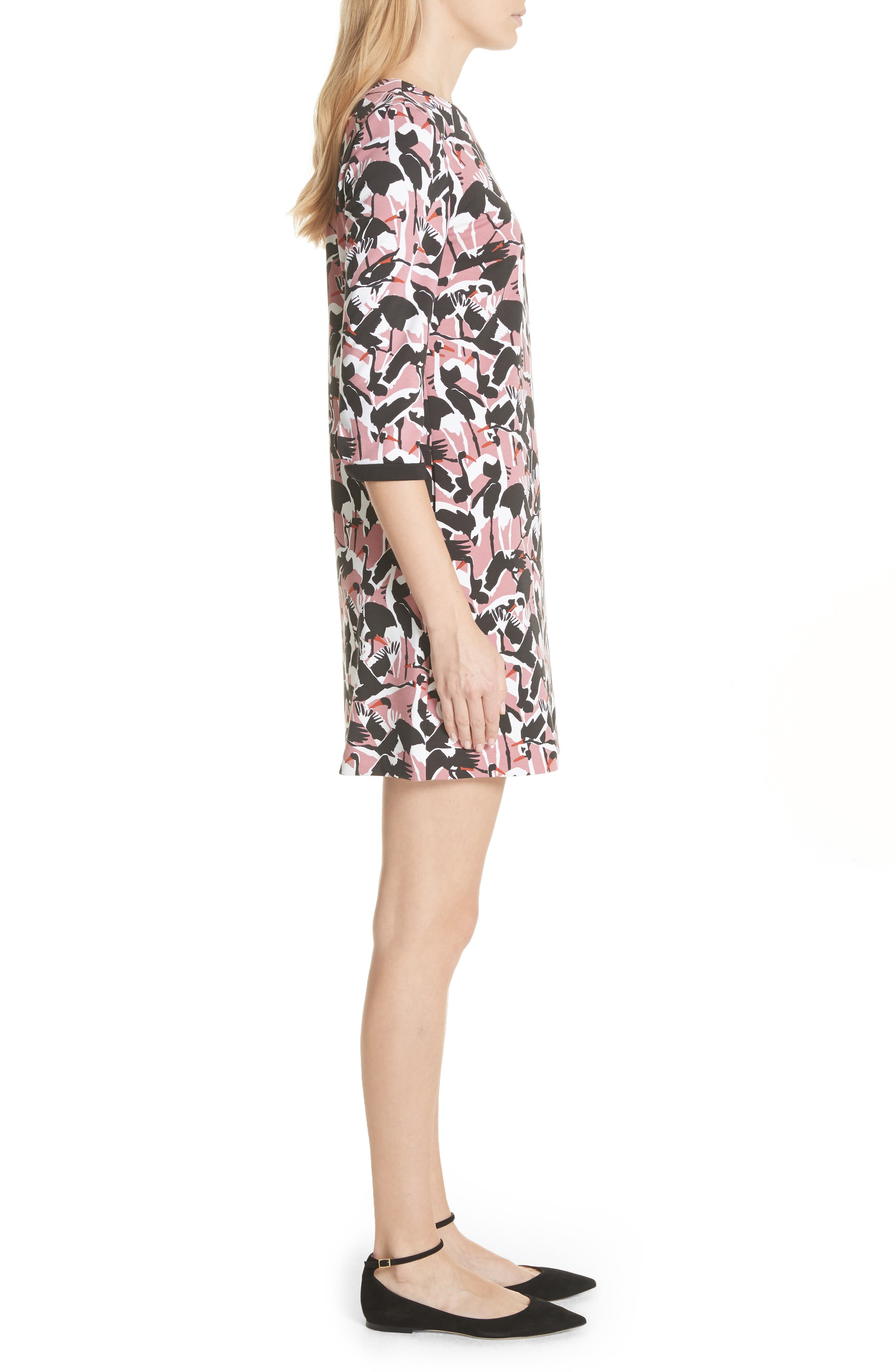 Colour by Numbers Crane Shift Dress,                             Alternate thumbnail 3, color,                             Dusky Pink