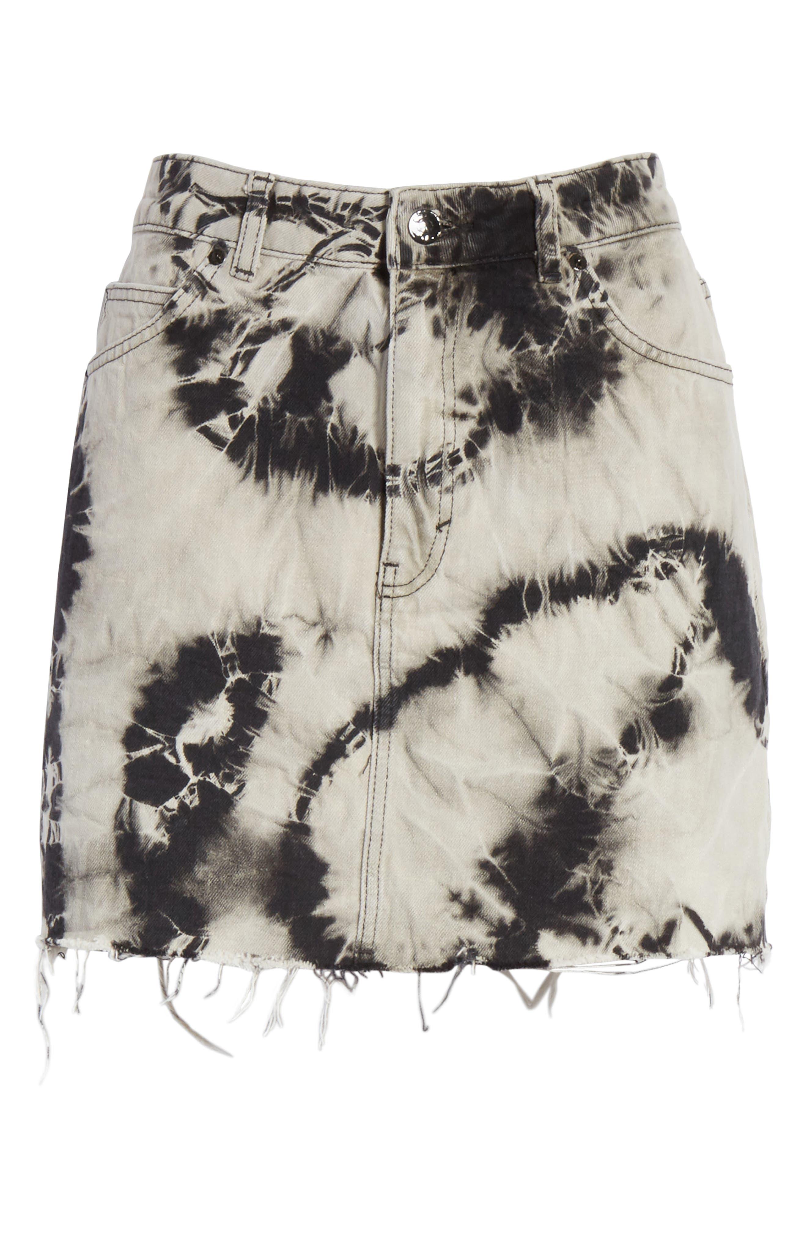 Alternate Image 6  - Ashley Williams Stephanie Tie Dye Denim Miniskirt