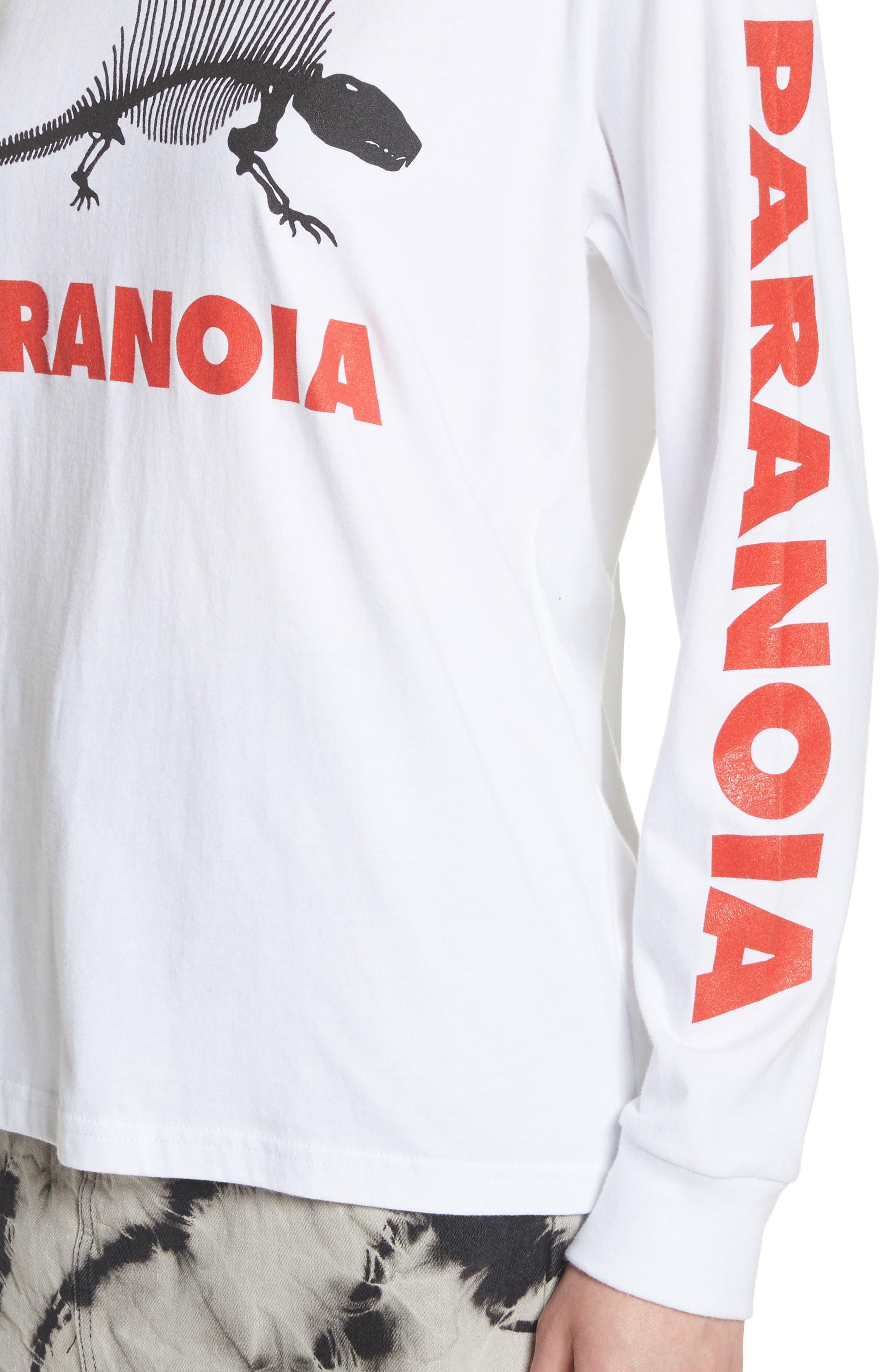 Paranoia Long Sleeve Tee,                             Alternate thumbnail 5, color,                             White