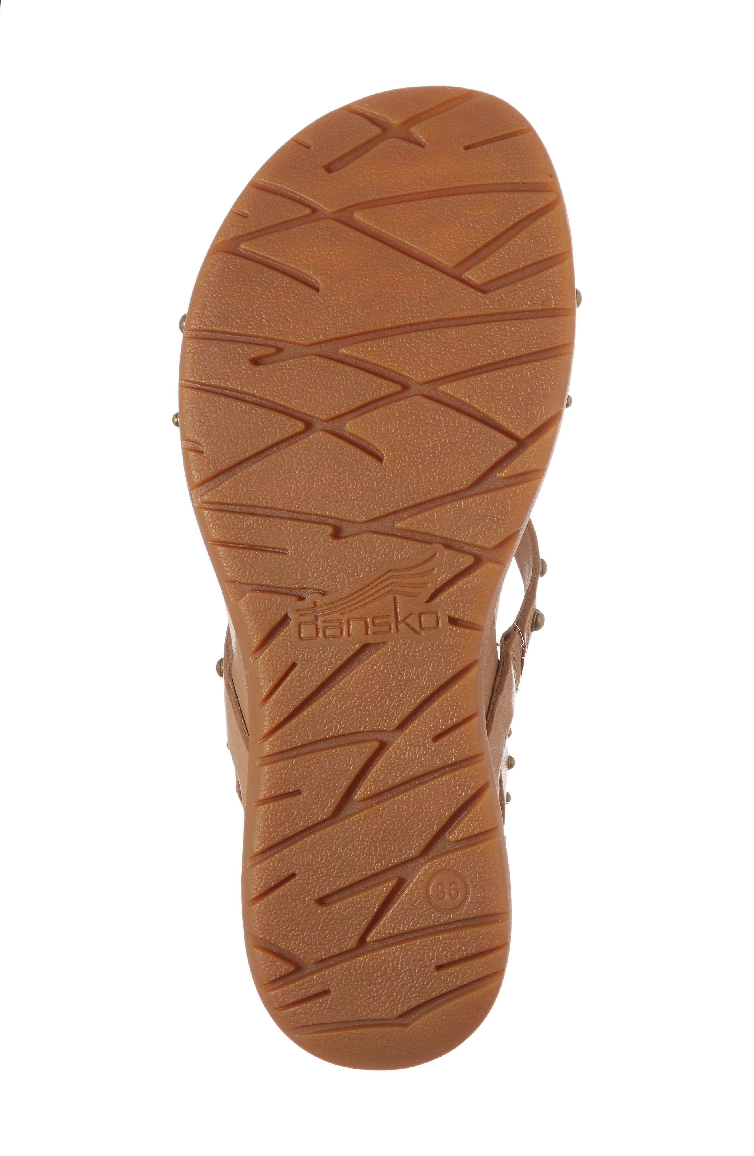 Brigitte Studded Strappy Sandal,                             Alternate thumbnail 6, color,                             Sand Leather