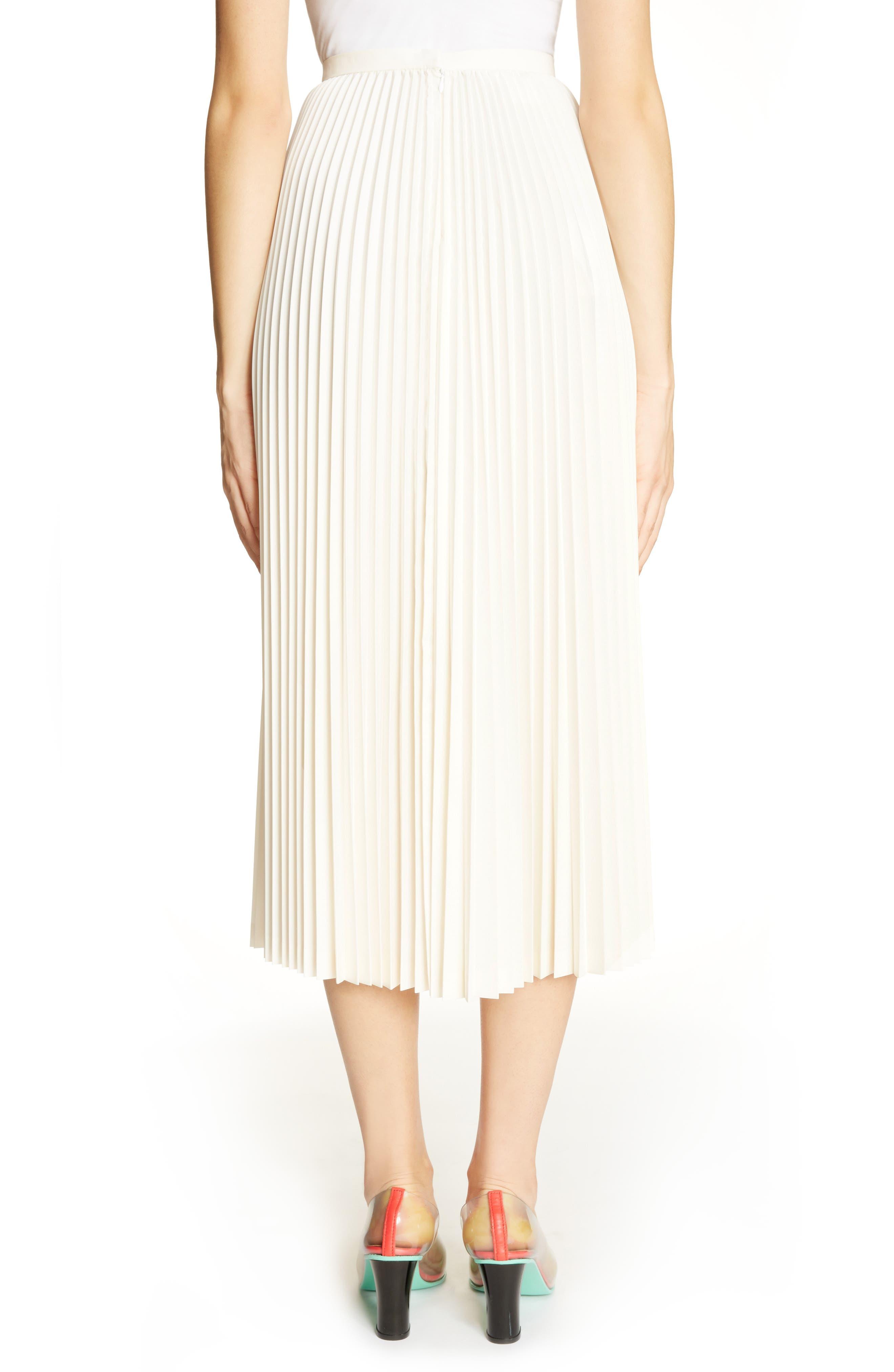 Alternate Image 3  - Toga Pleated Keyhole Skirt