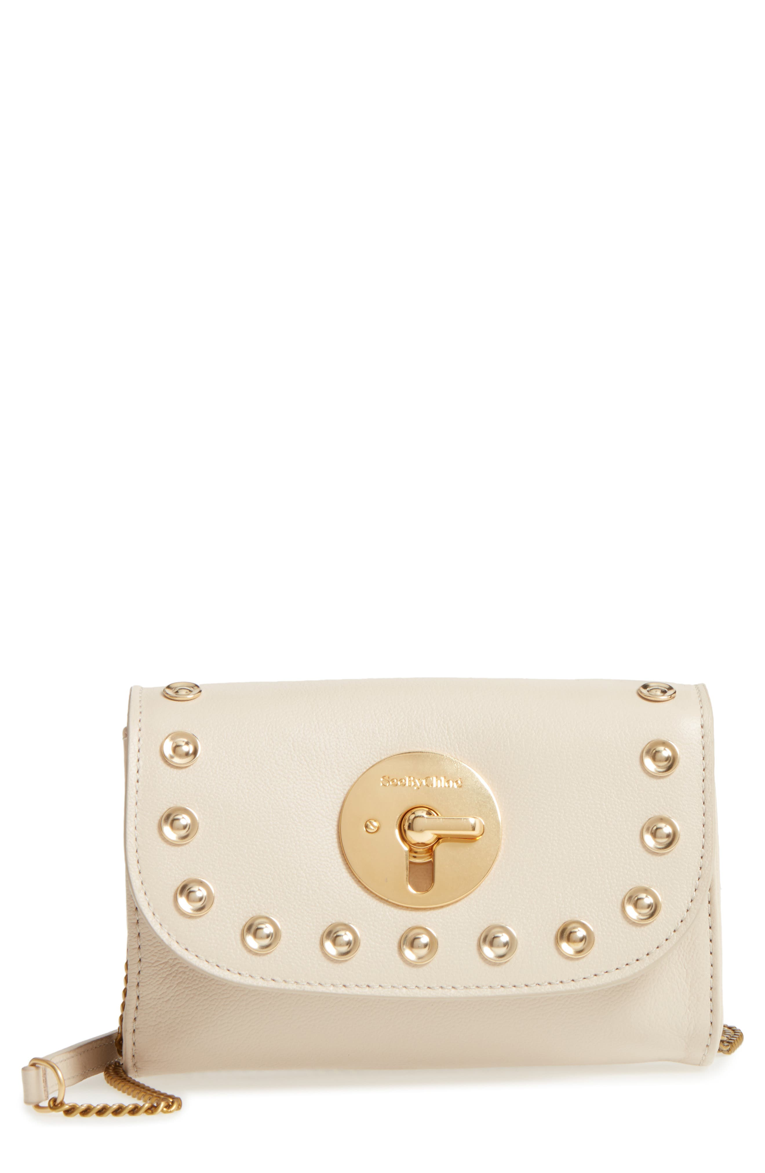 See by Chloé Mini Lois Studded Leather Crossbody Bag