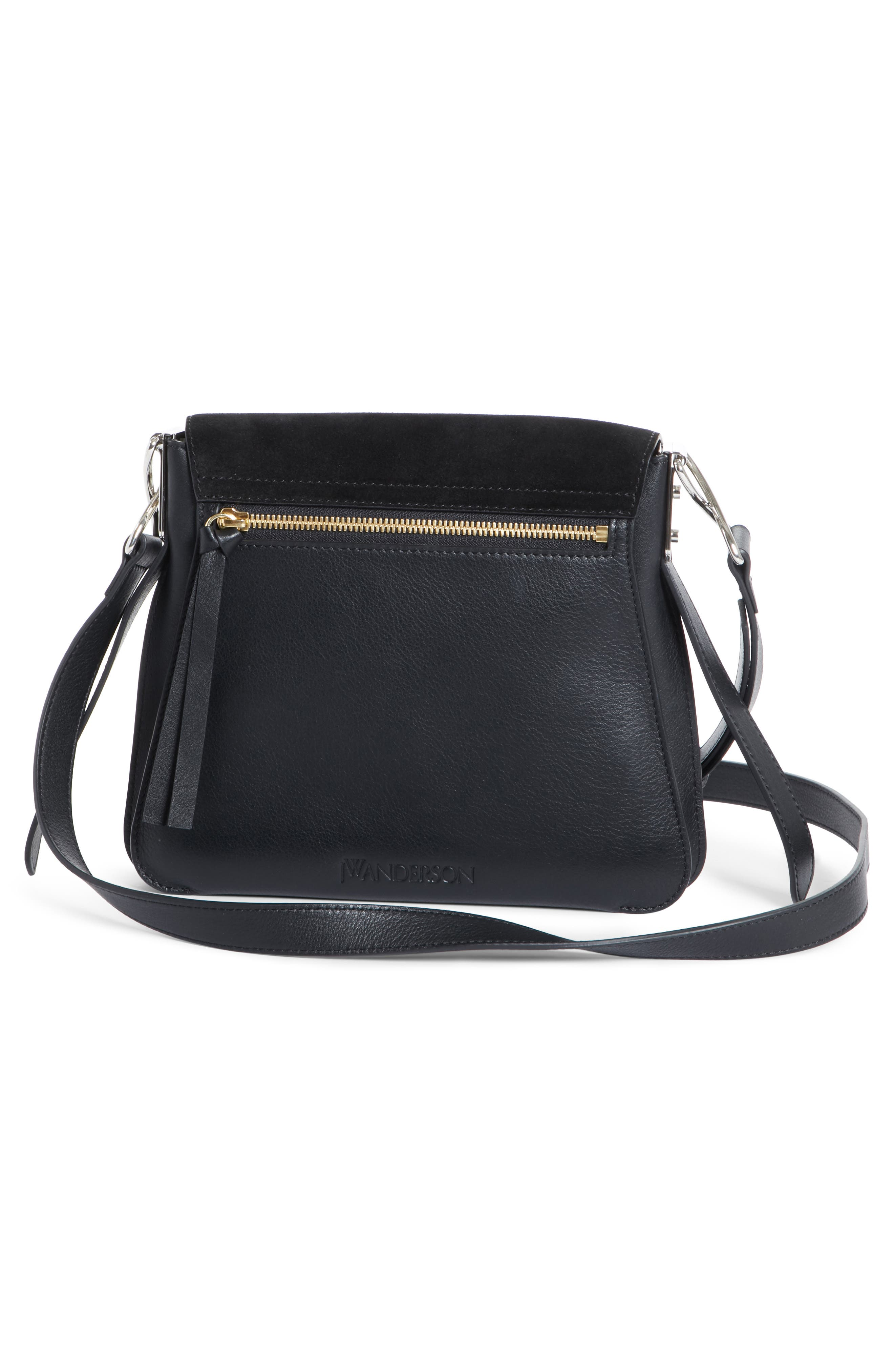 J.W.ANDERSON Disc Crossbody Bag,                             Alternate thumbnail 3, color,                             Black