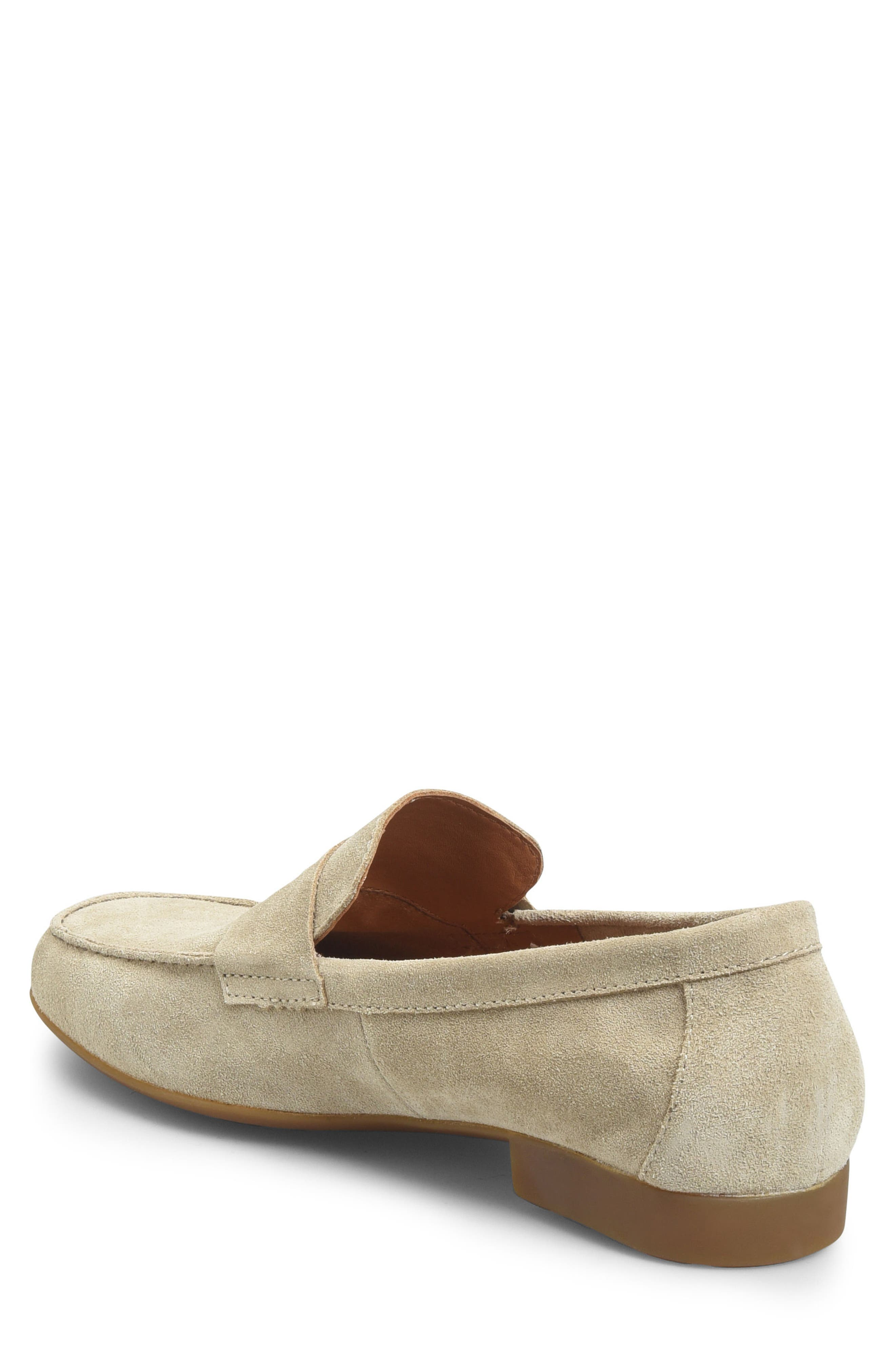 'Dave' Penny Loafer,                             Alternate thumbnail 2, color,                             Natural Suede