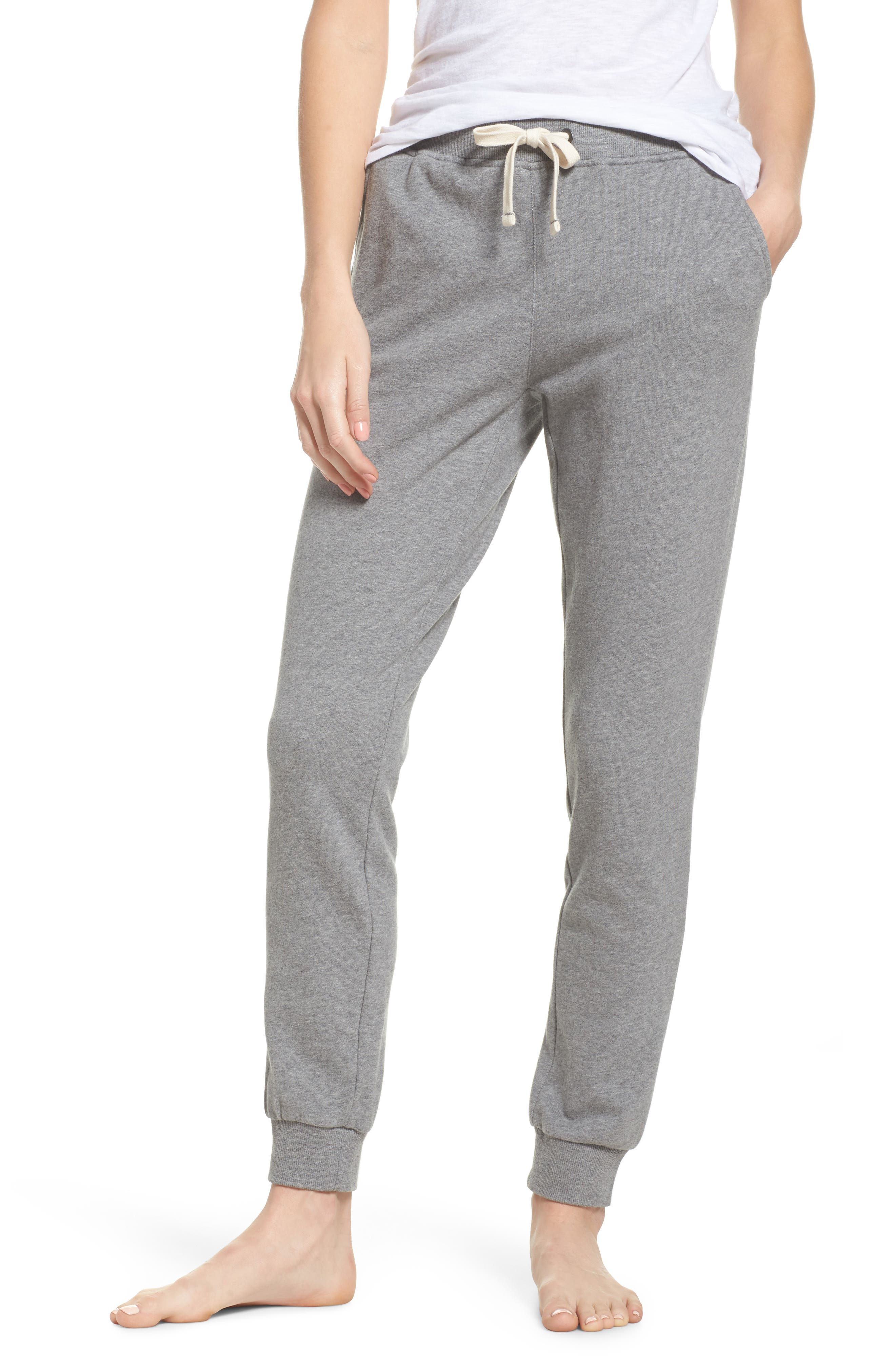 Babe Jogger Pants,                         Main,                         color, Heather Grey