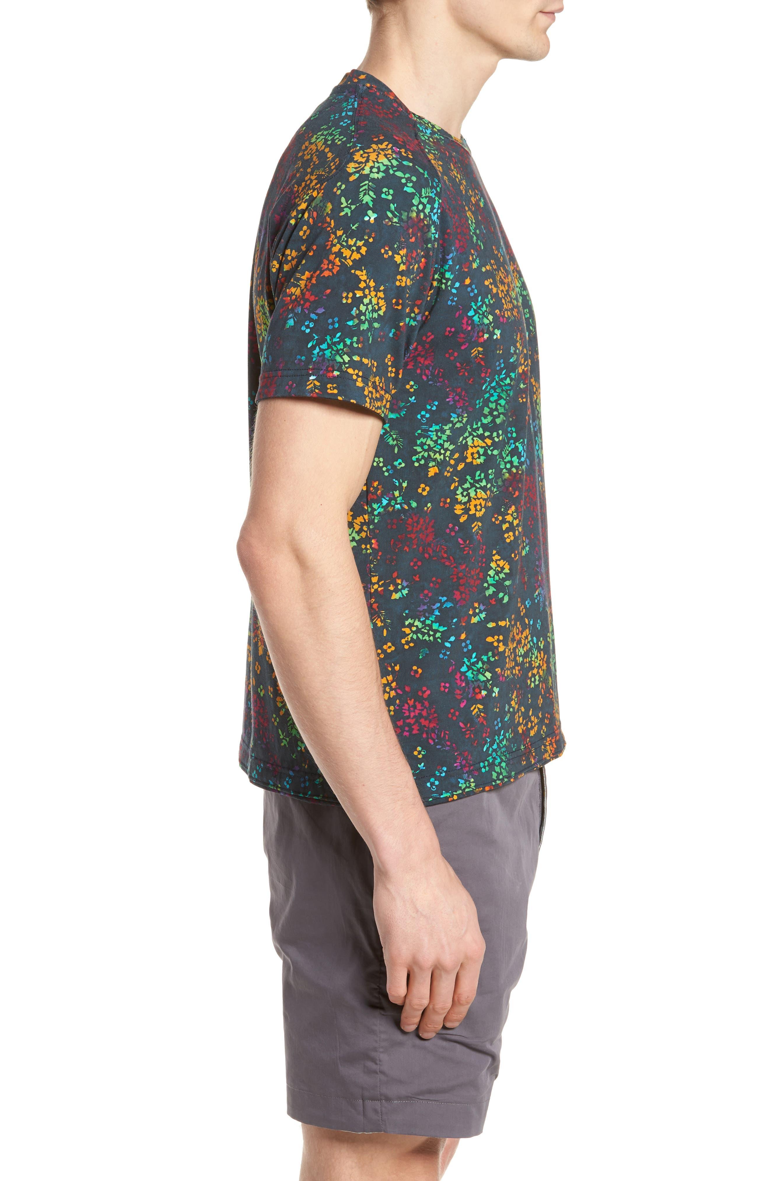 Explorer Print T-Shirt,                             Alternate thumbnail 3, color,                             Navy Multi