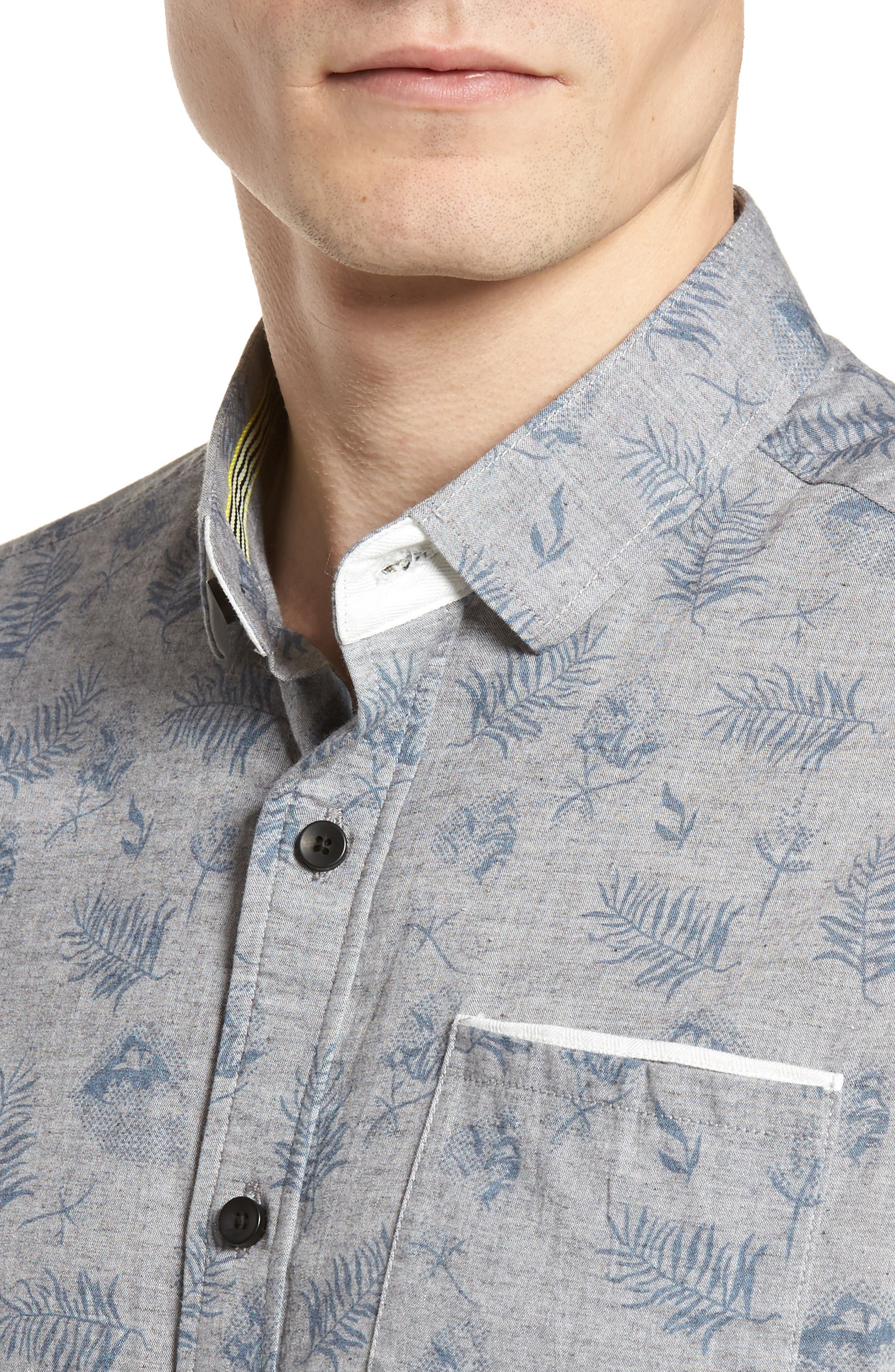 Rock Steady Woven Shirt,                             Alternate thumbnail 2, color,                             Grey