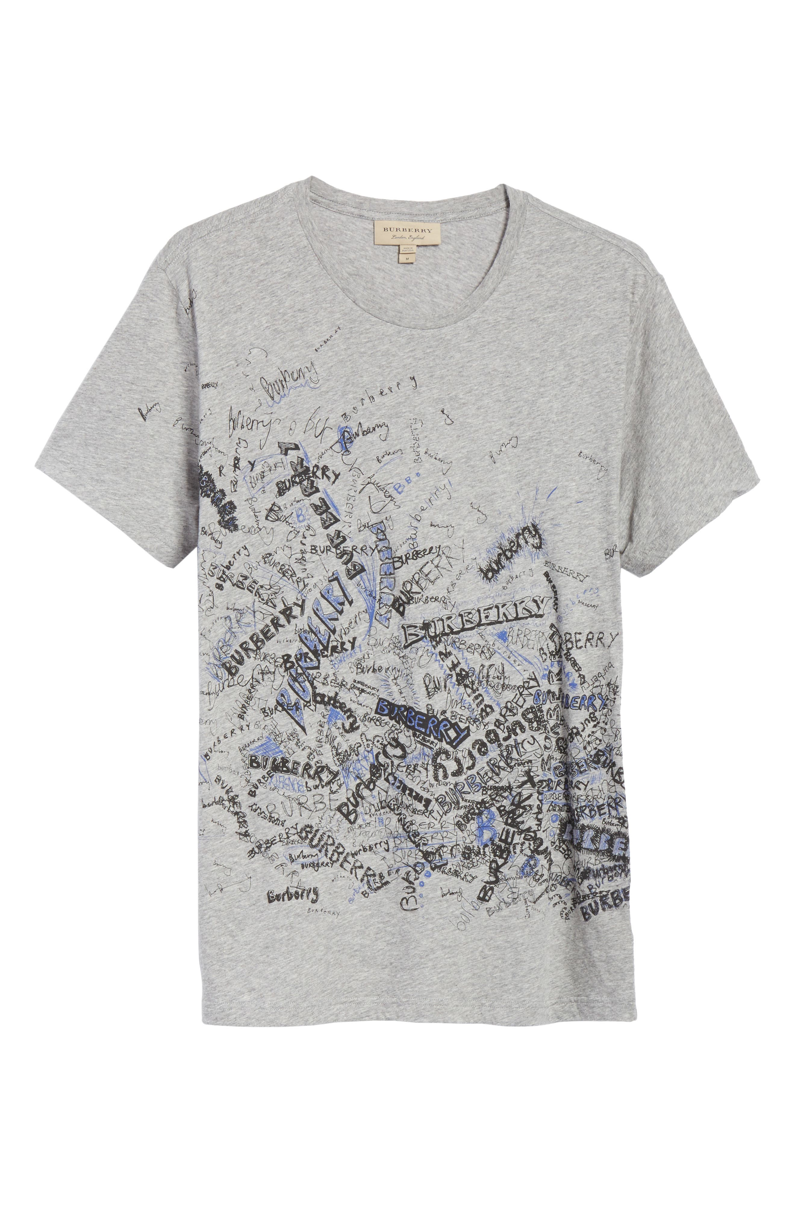 Becklow Standard Fit Graphic Tee,                             Alternate thumbnail 6, color,                             Pale Grey Melange