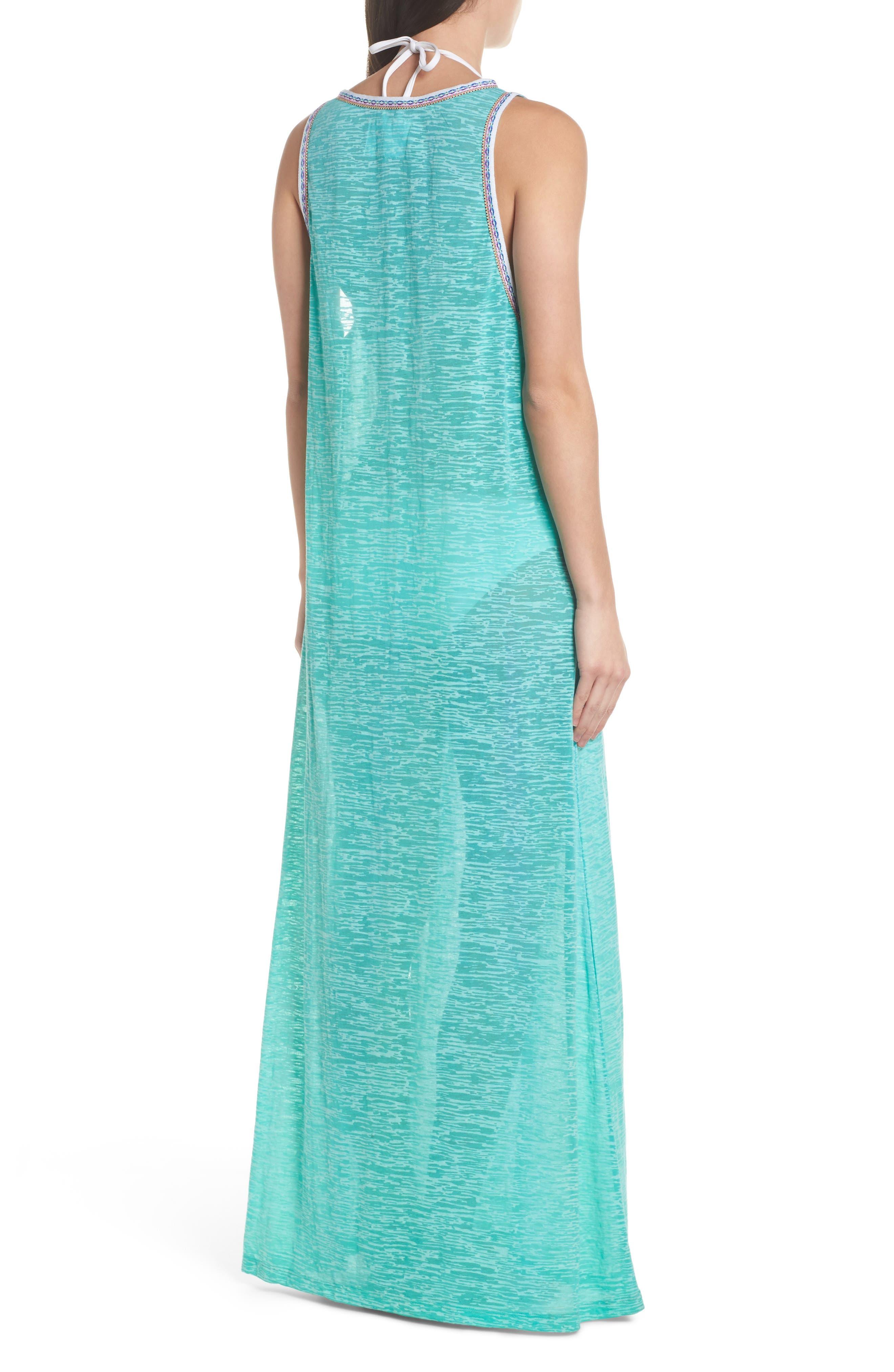 Tassel Slit Cover-Up Maxi Dress,                             Alternate thumbnail 2, color,                             Mint