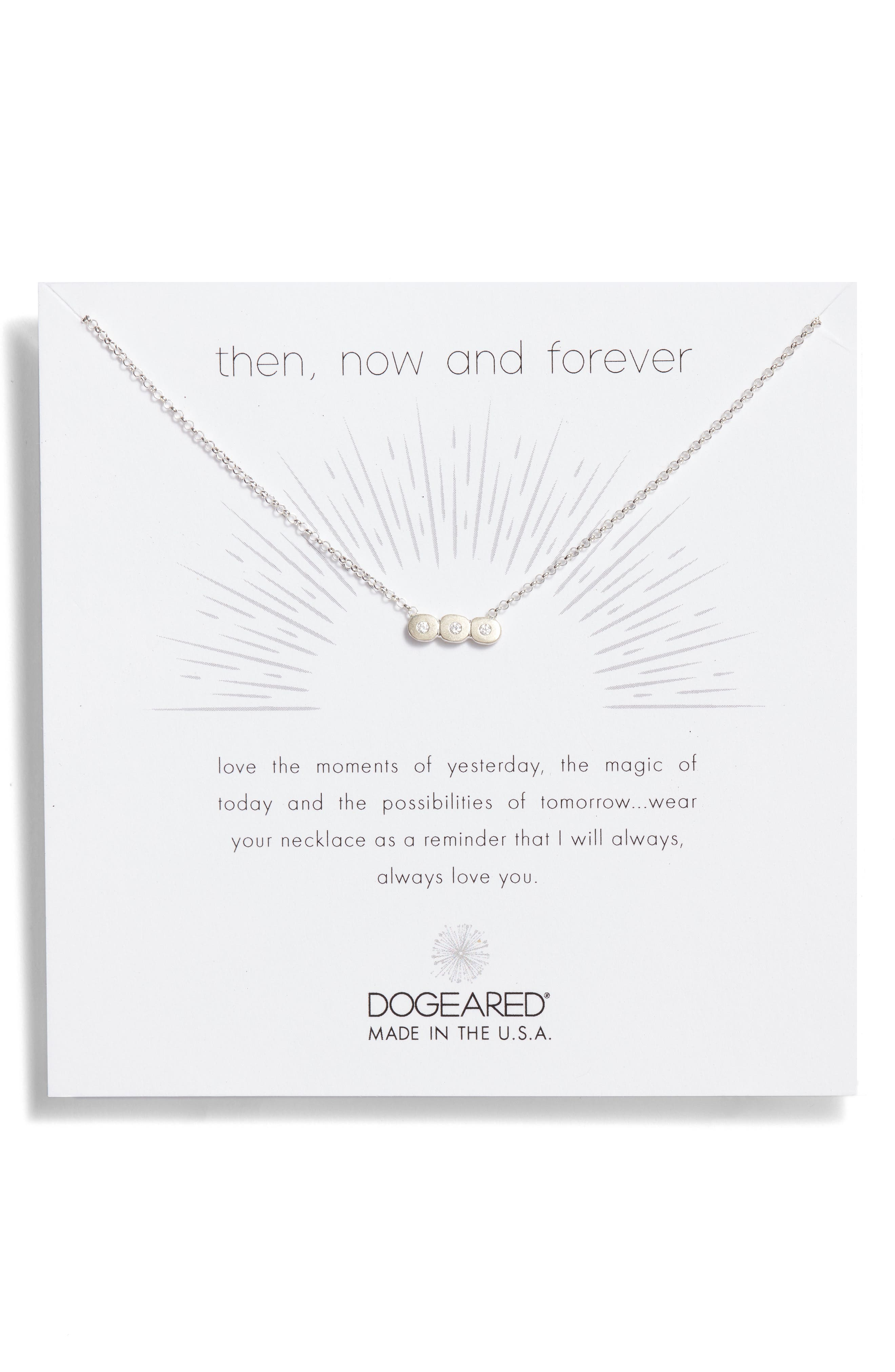 Main Image - Dogeared Then Now & Forever Pendant Necklace