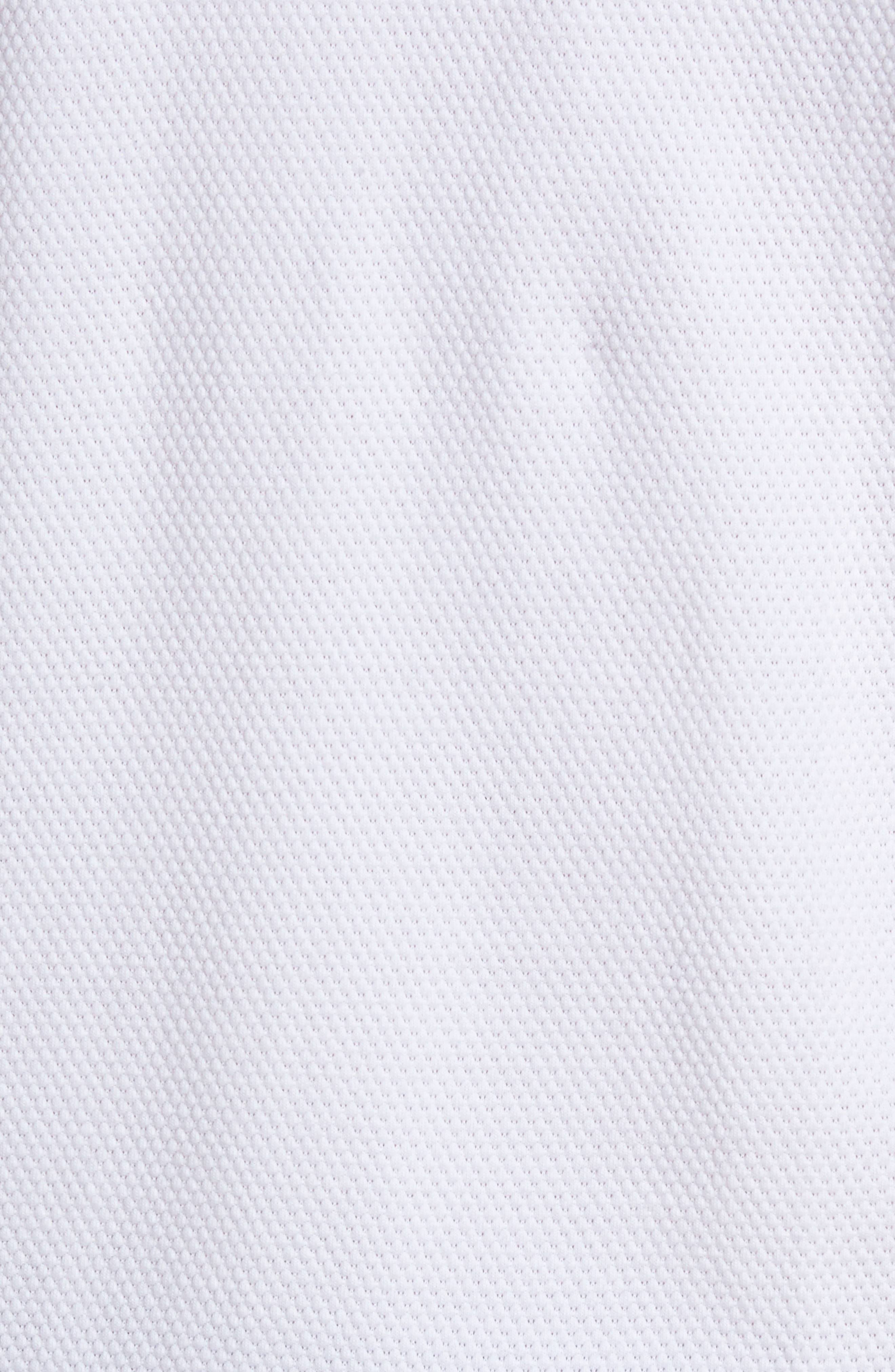 Ampthill Pebble Knit Polo,                             Alternate thumbnail 5, color,                             White