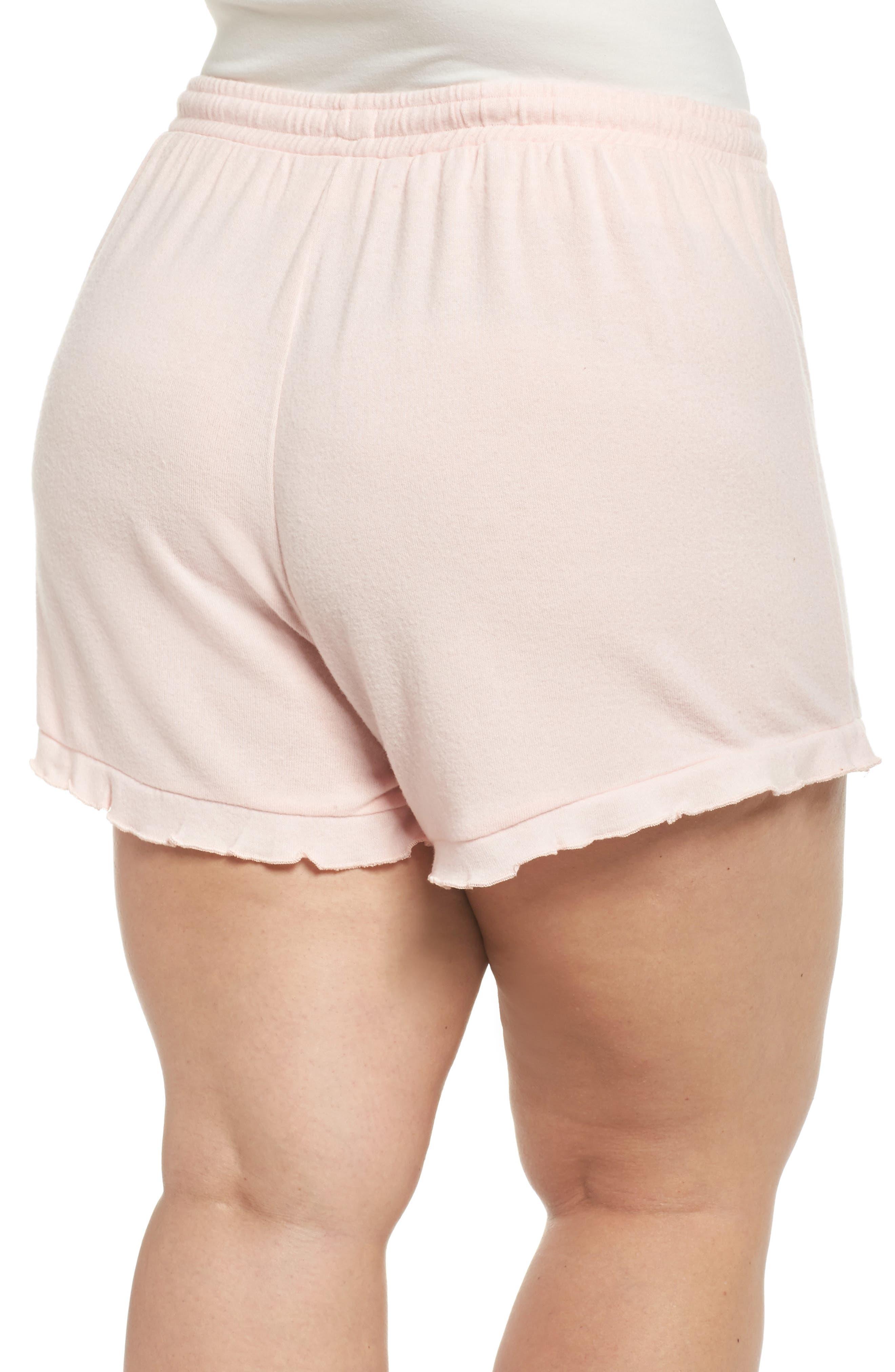 Ruffle Lounge Shorts,                             Alternate thumbnail 2, color,                             Blush