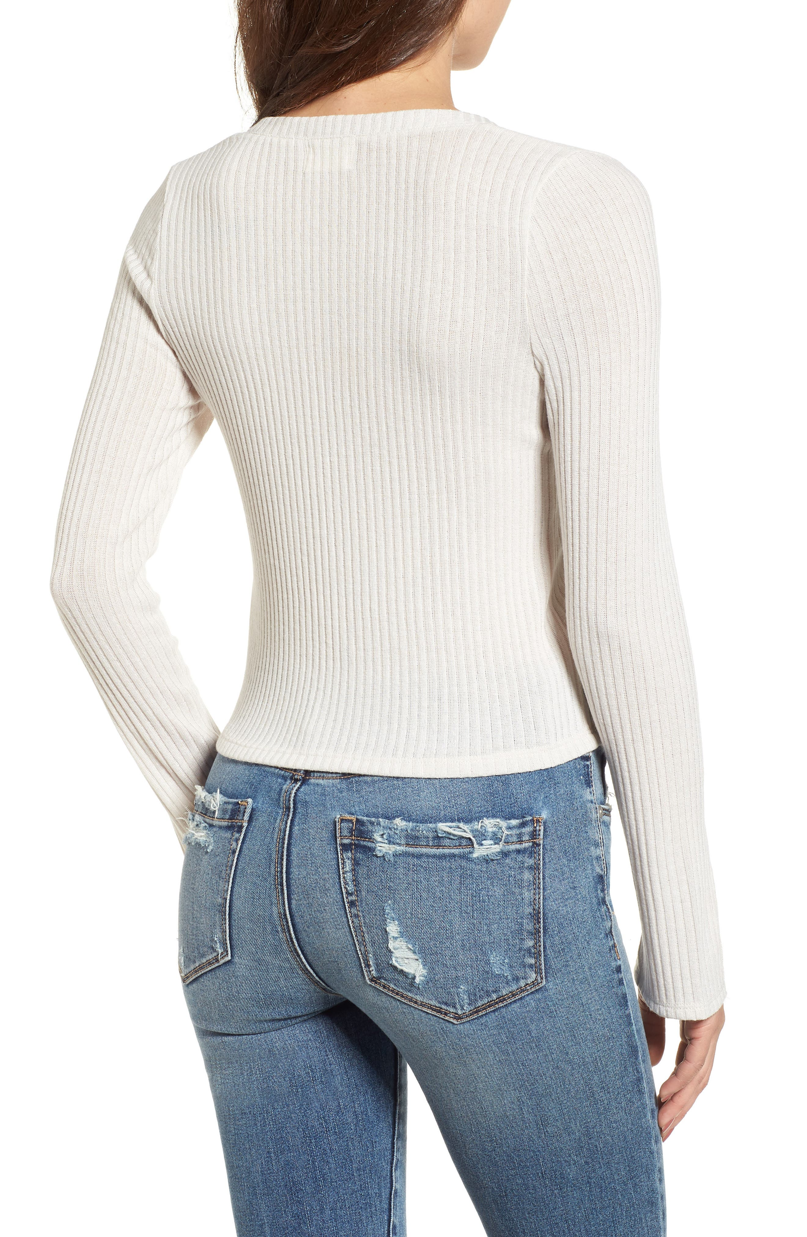 Rib Knit Henley,                             Alternate thumbnail 2, color,                             Taupe