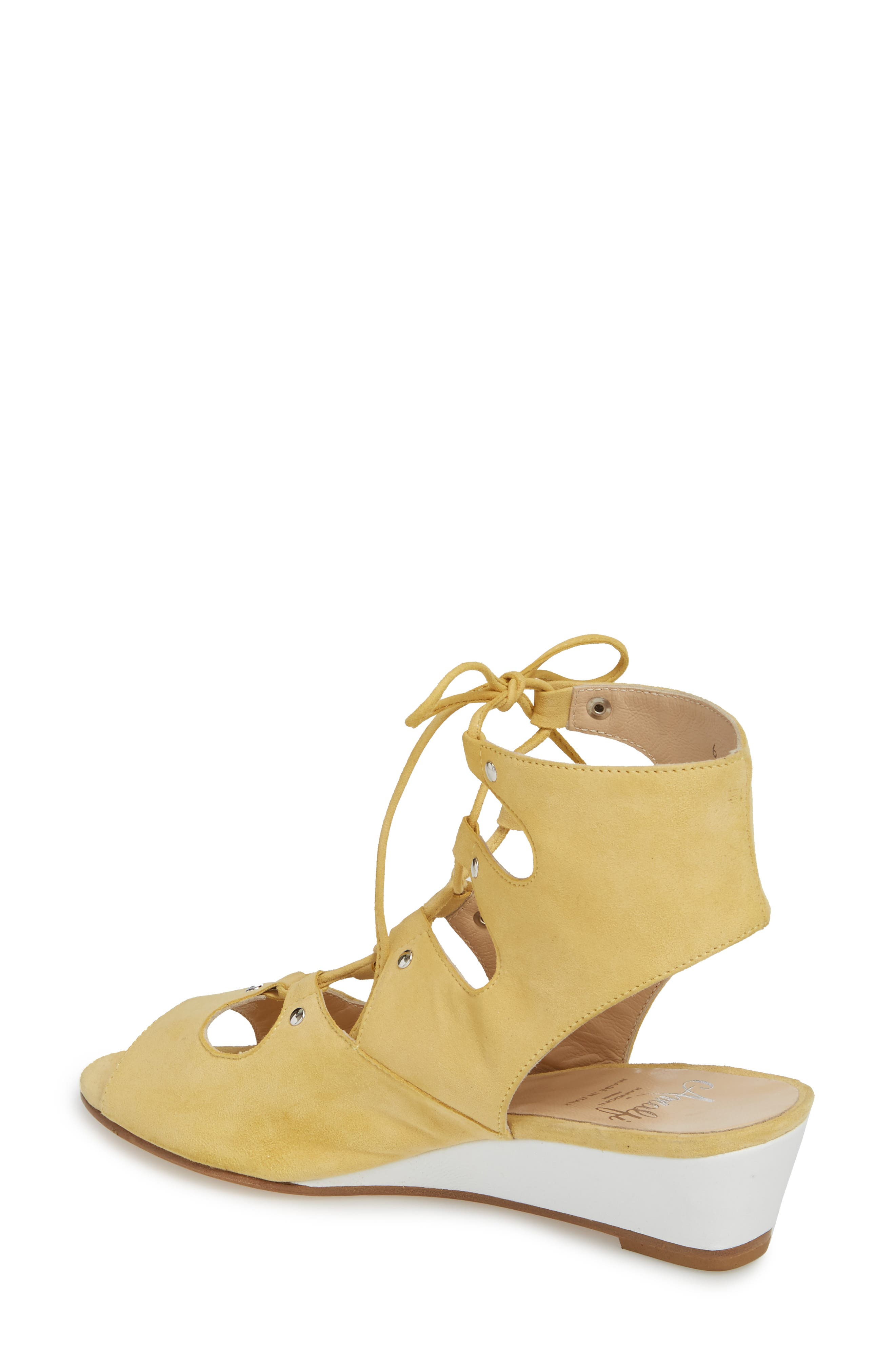 Morata Ghillie Cage Sandal,                             Alternate thumbnail 2, color,                             Mango/ Beige Suede