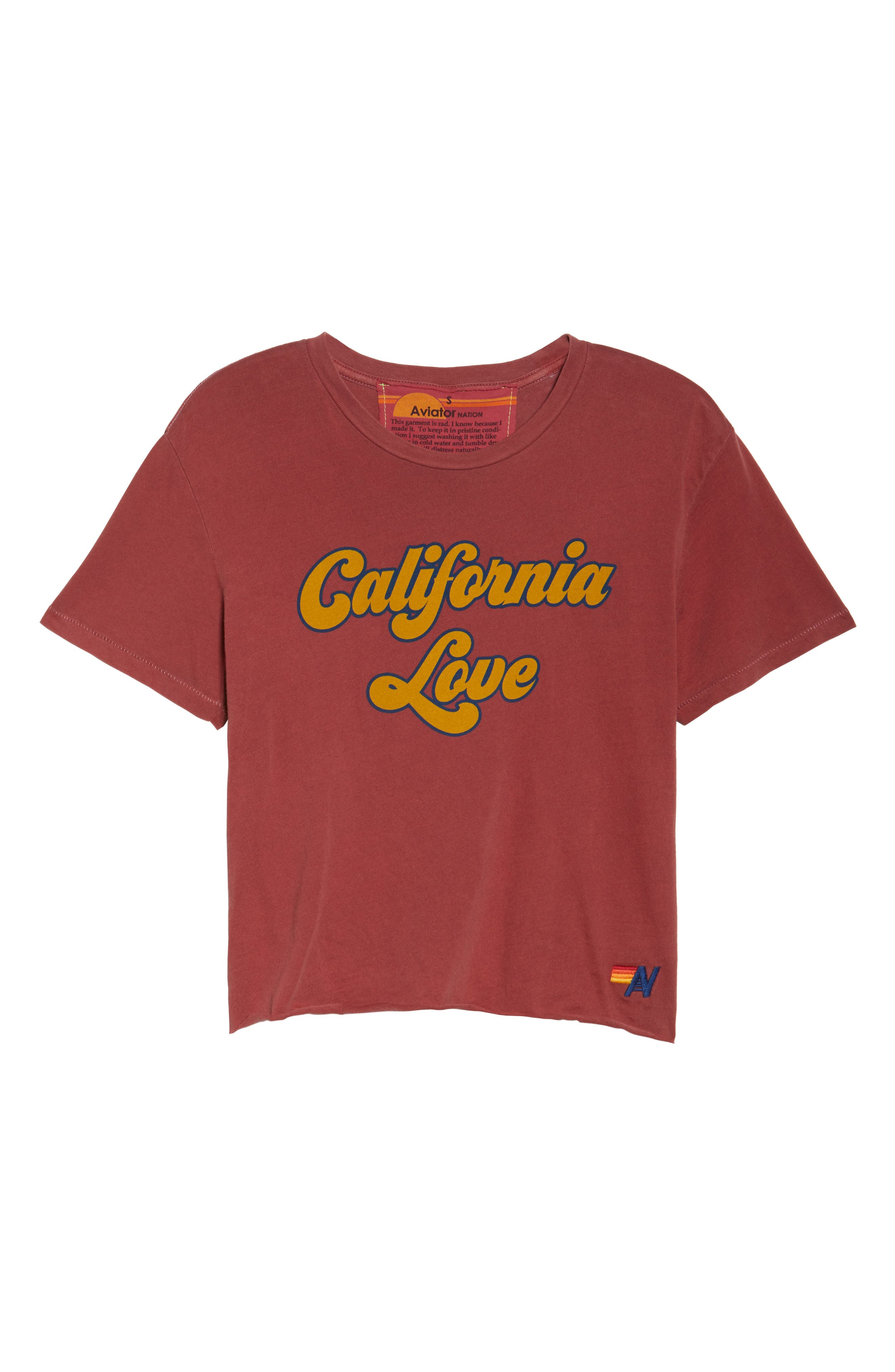 California Love Boyfriend Tee,                             Alternate thumbnail 7, color,                             Vintage Red