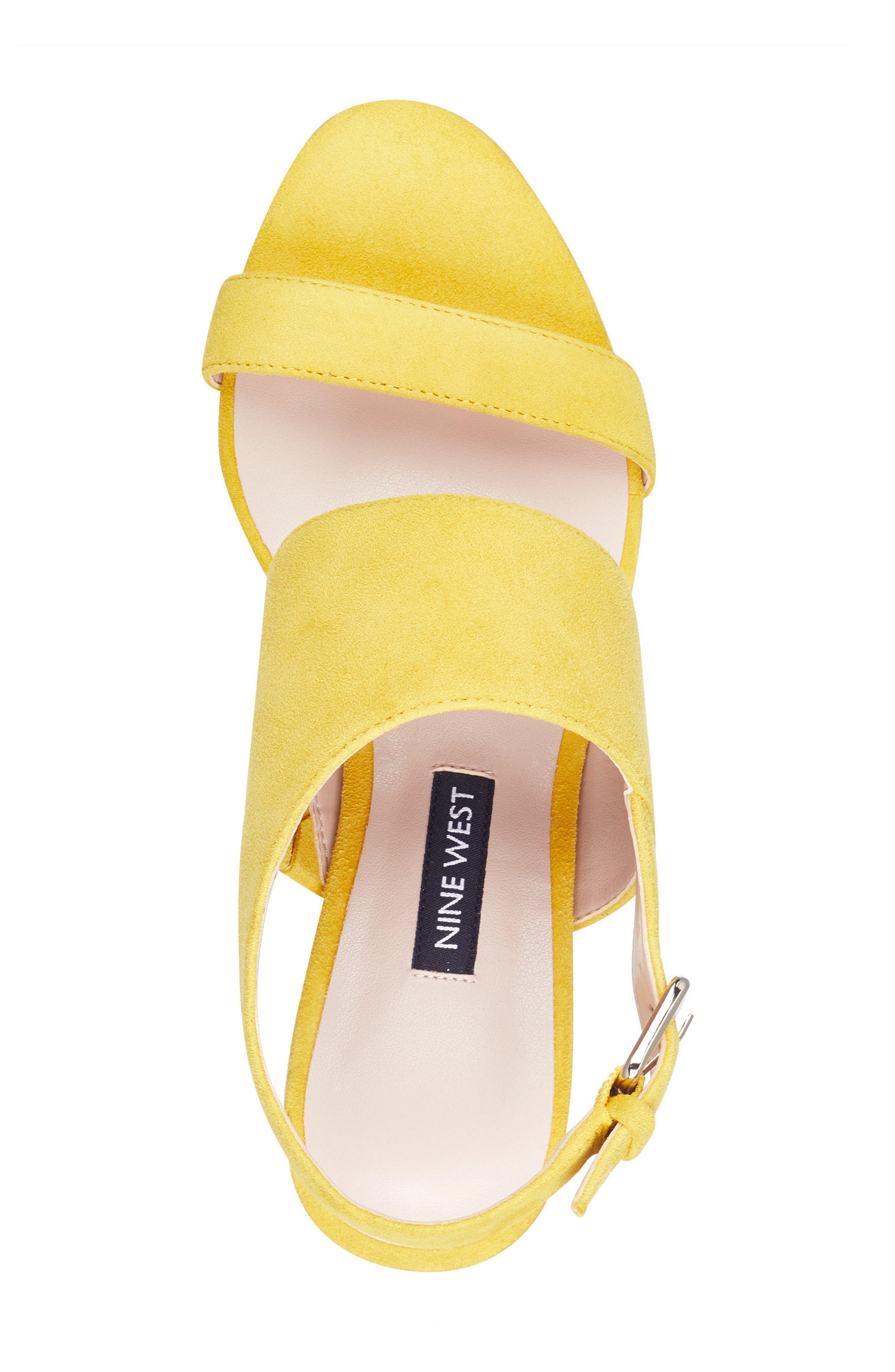 Forli Asymmetrical Sandal,                             Alternate thumbnail 5, color,                             Yellow Suede
