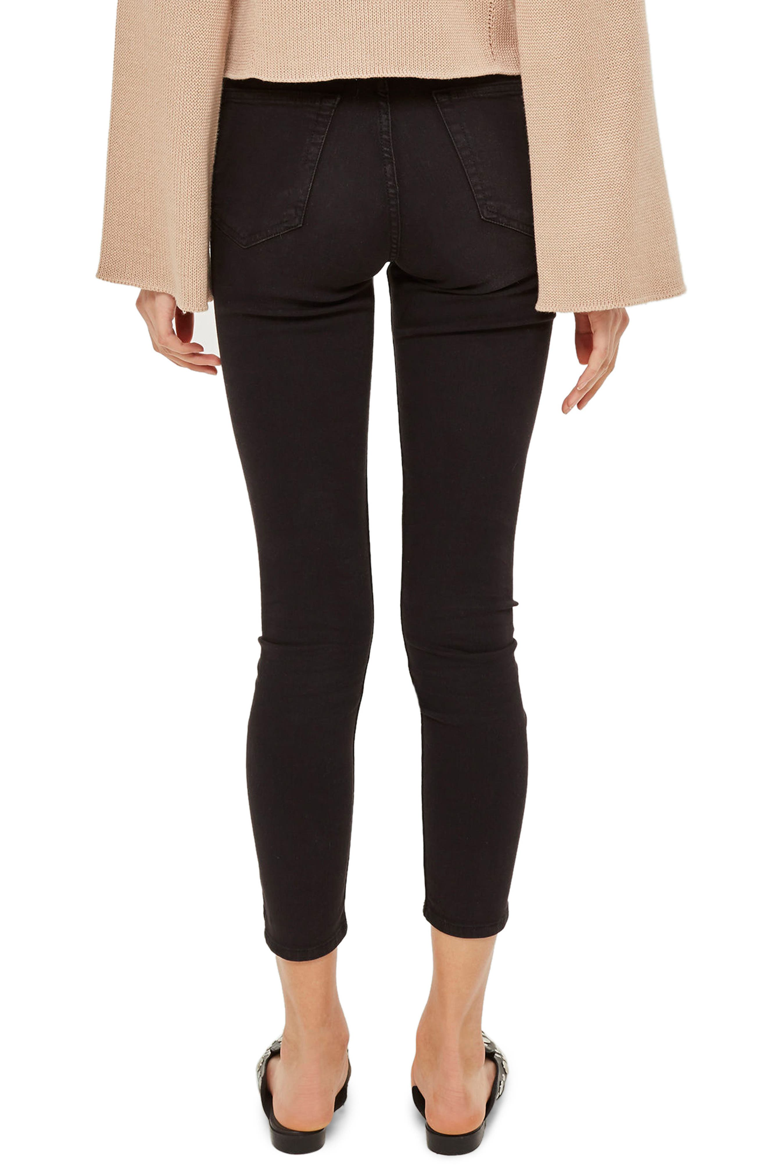 Jamie High Waist Skinny Jeans,                             Alternate thumbnail 2, color,                             Black