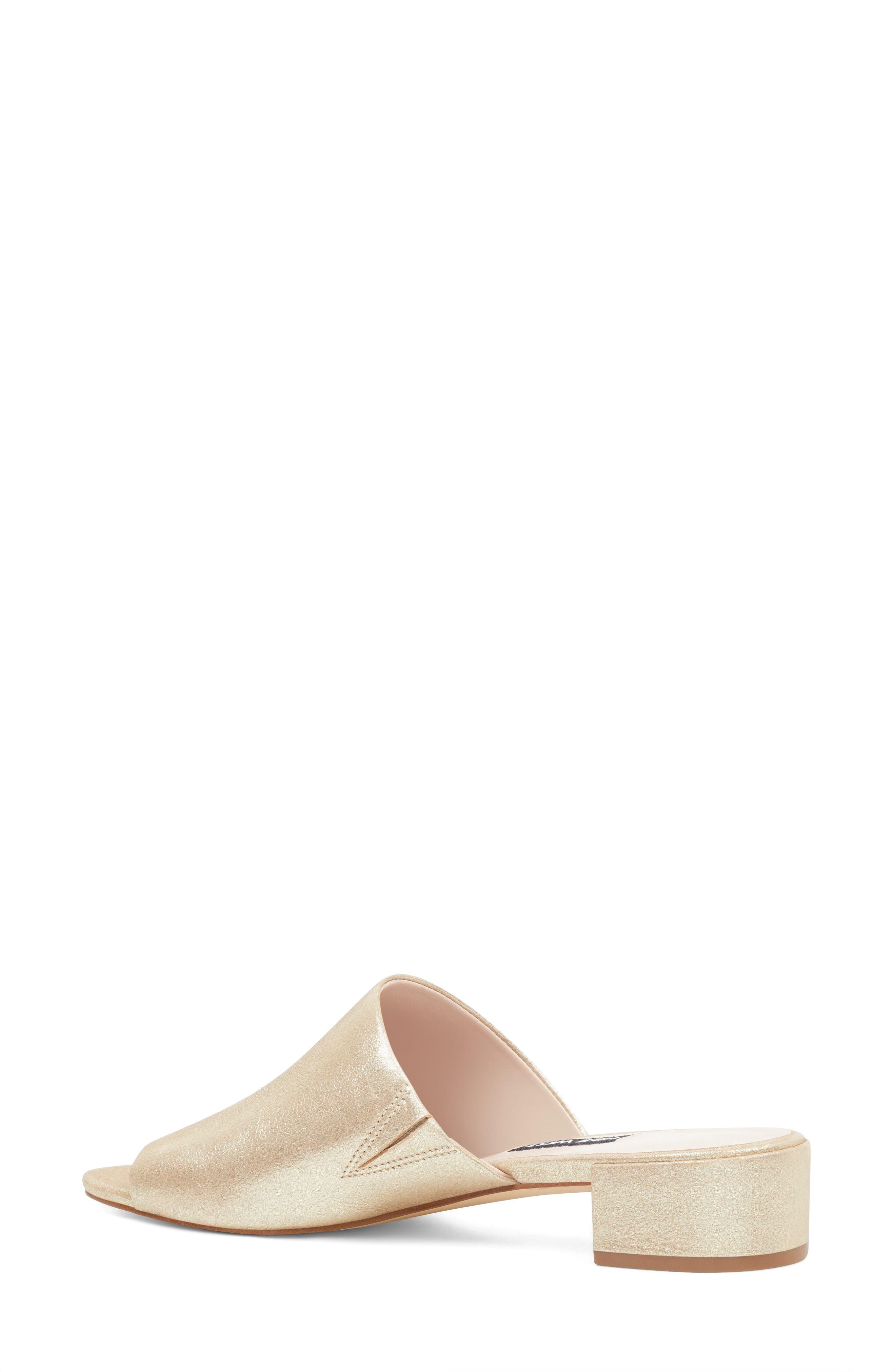 Raissa Slide Sandal,                             Alternate thumbnail 2, color,                             Light Gold Leather