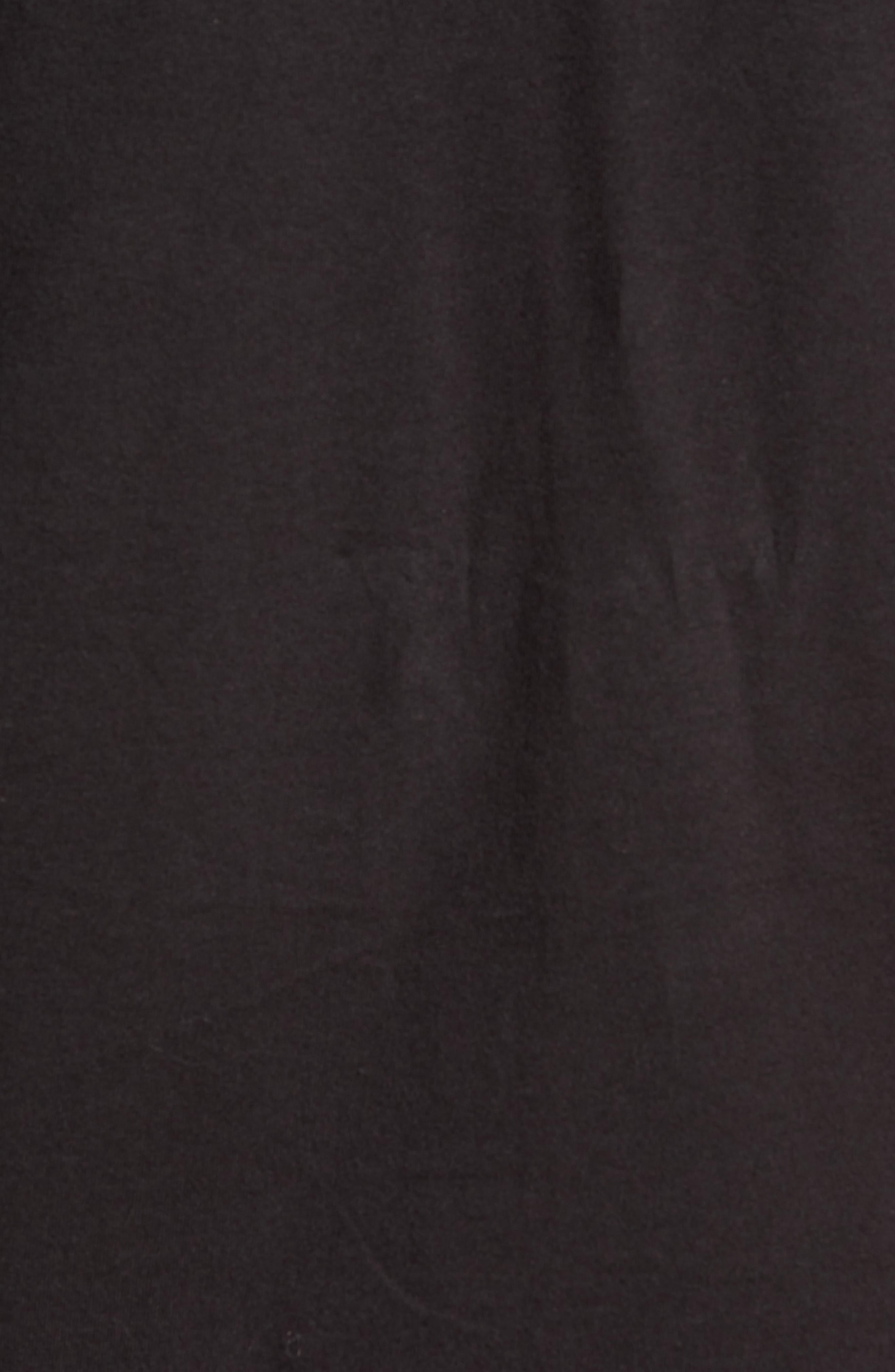 Wavy Graphic T-Shirt,                             Alternate thumbnail 5, color,                             Black