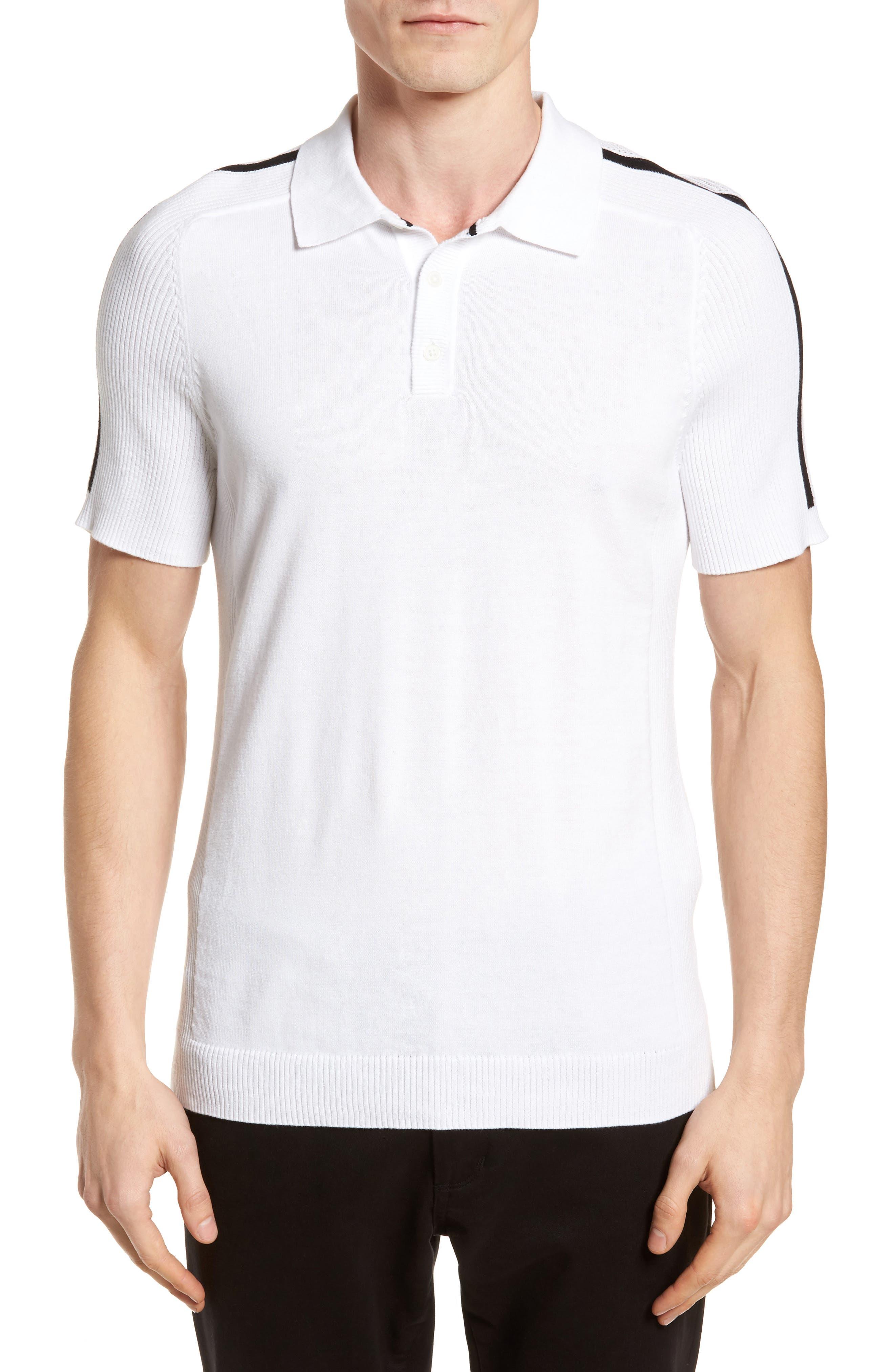 Sweater Polo,                         Main,                         color, White/ Black
