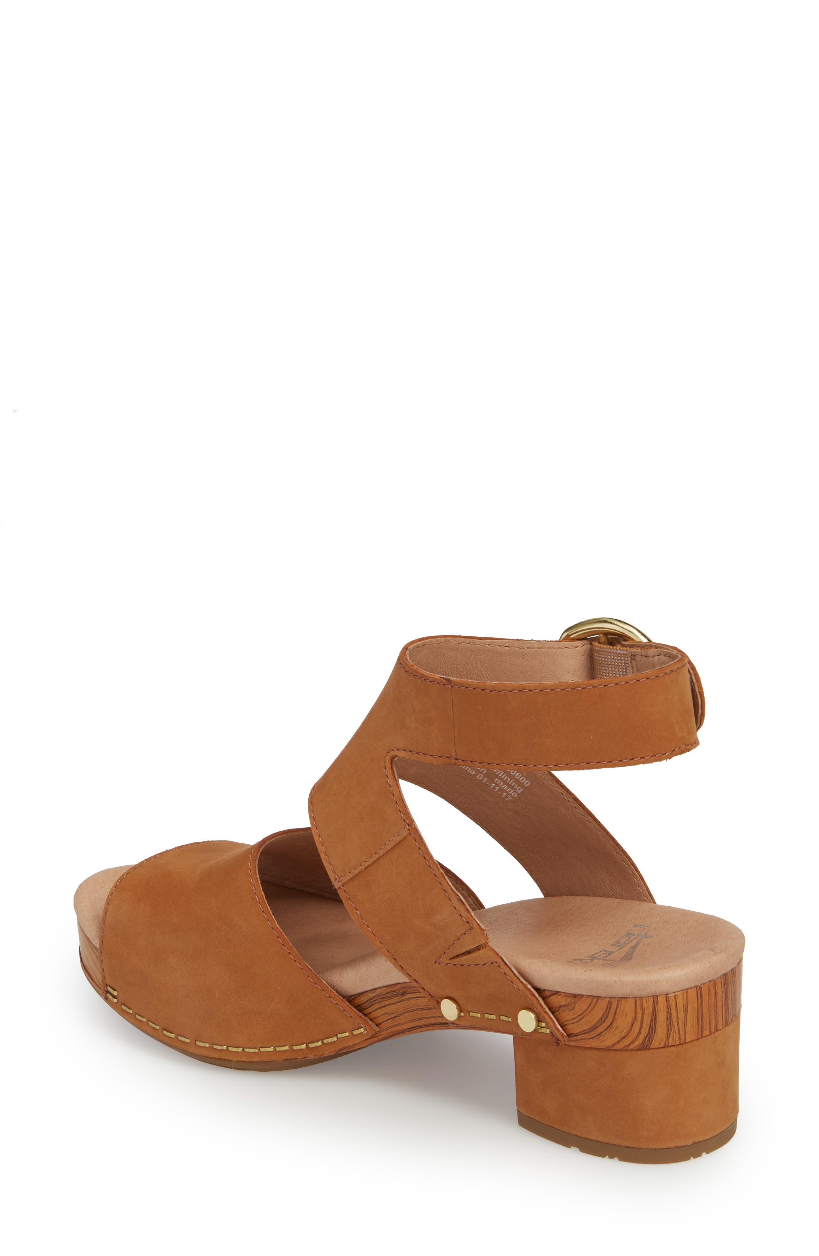 Minka Sandal,                             Alternate thumbnail 2, color,                             Camel Milled Nubuck Leather