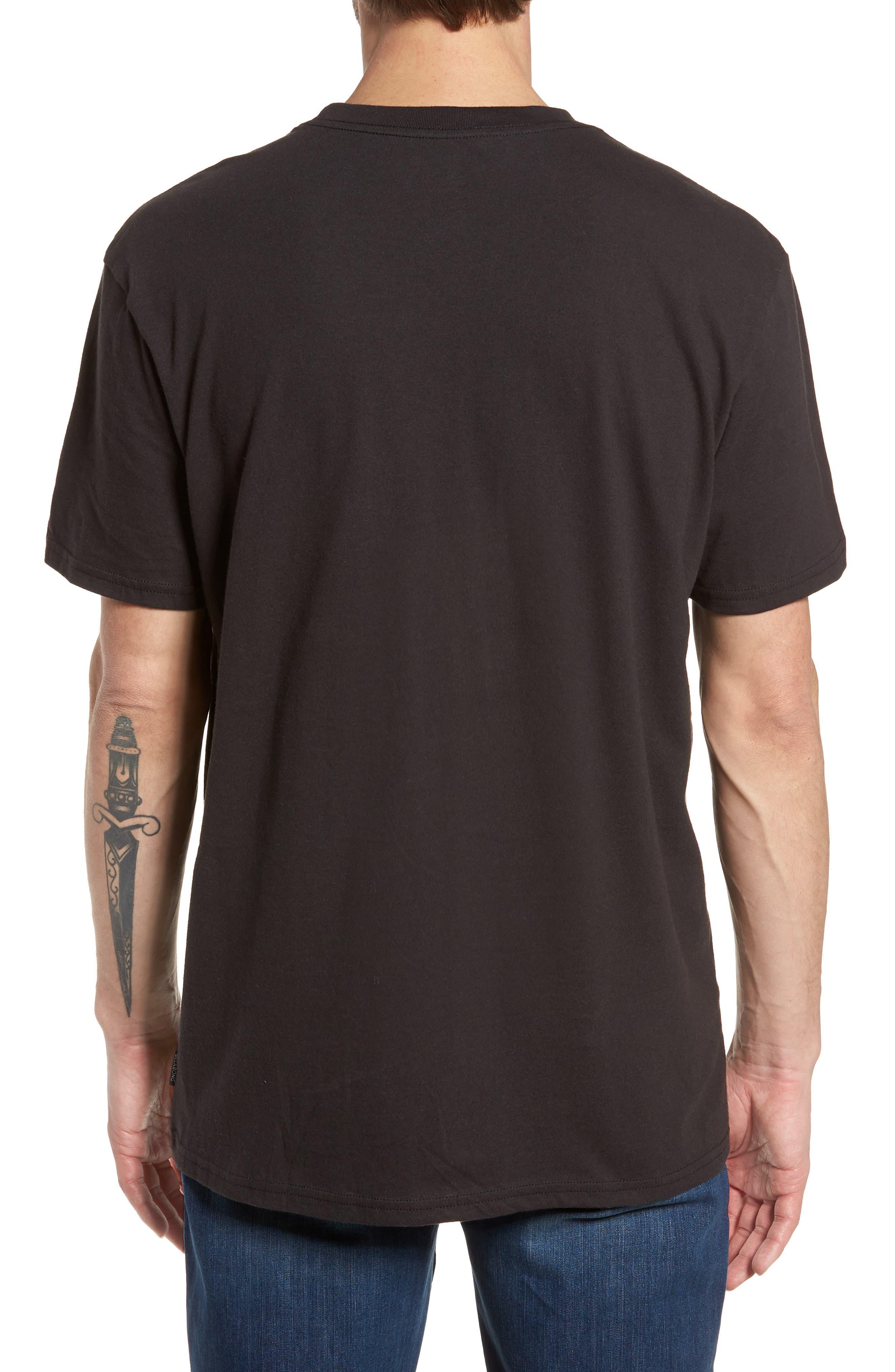 Wavy Graphic T-Shirt,                             Alternate thumbnail 2, color,                             Black