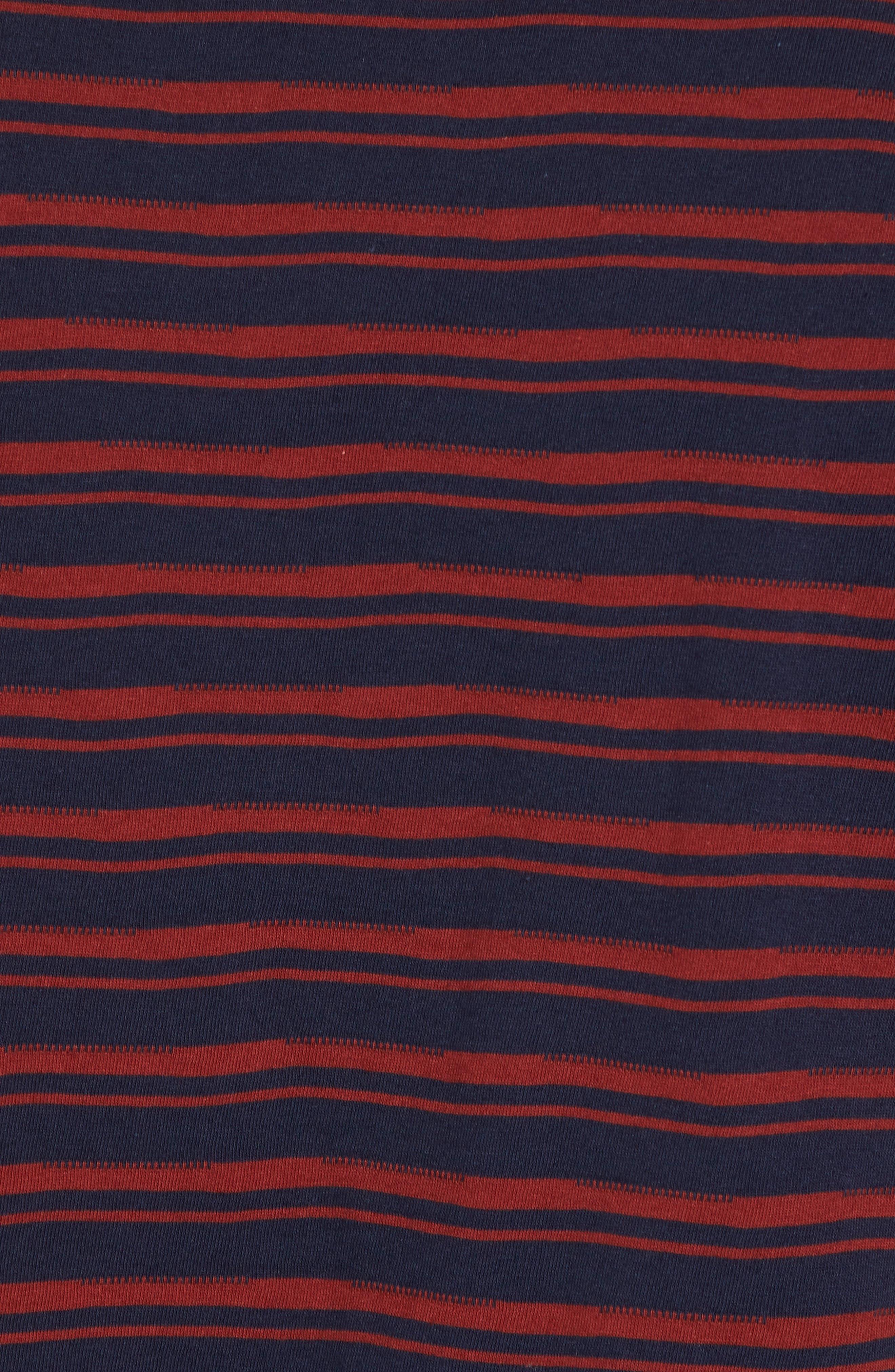 Distorted Stripe T-Shirt,                             Alternate thumbnail 5, color,                             Navy