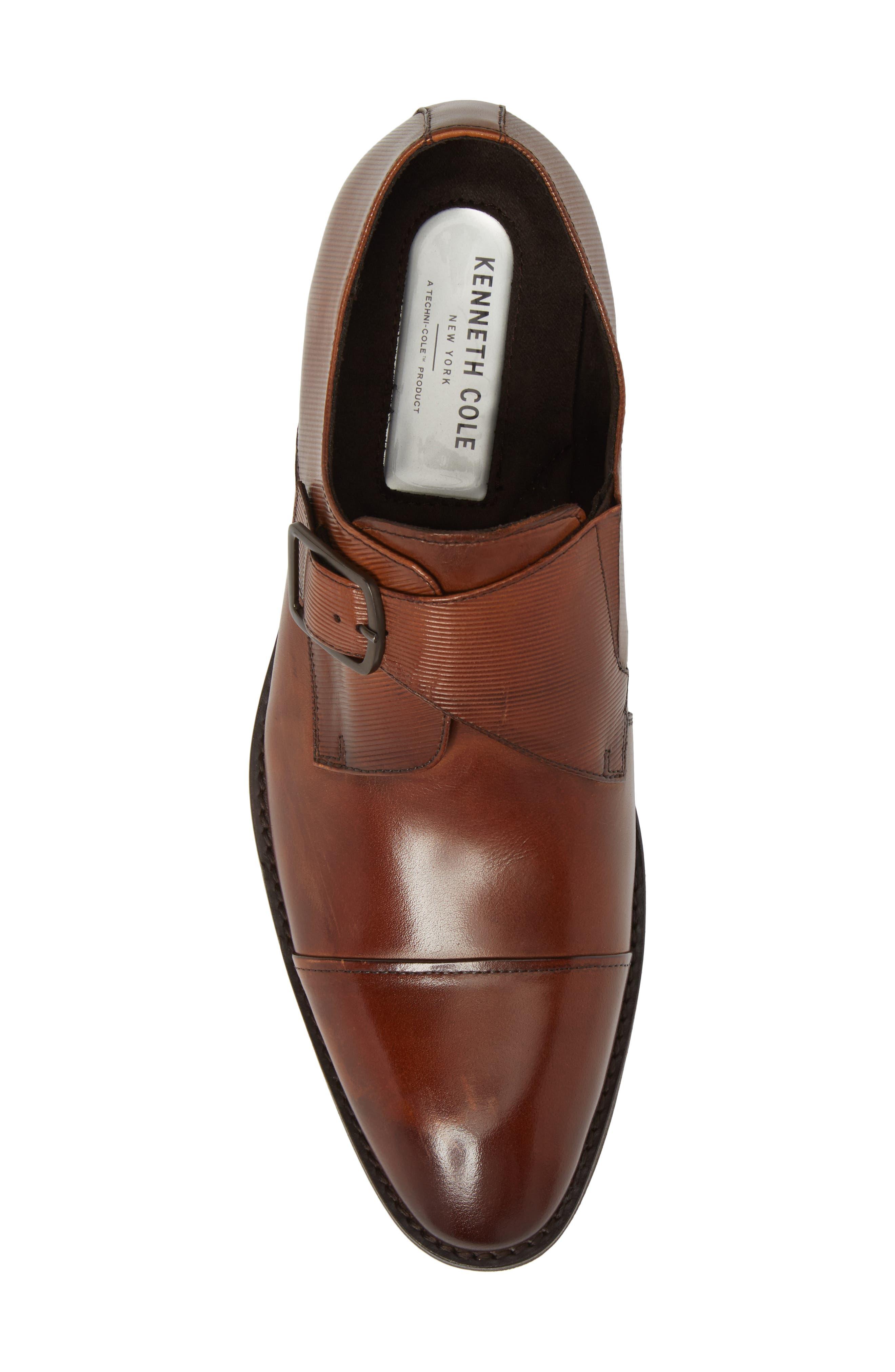 Courage Monk Strap Shoe,                             Alternate thumbnail 5, color,                             Cognac Leather