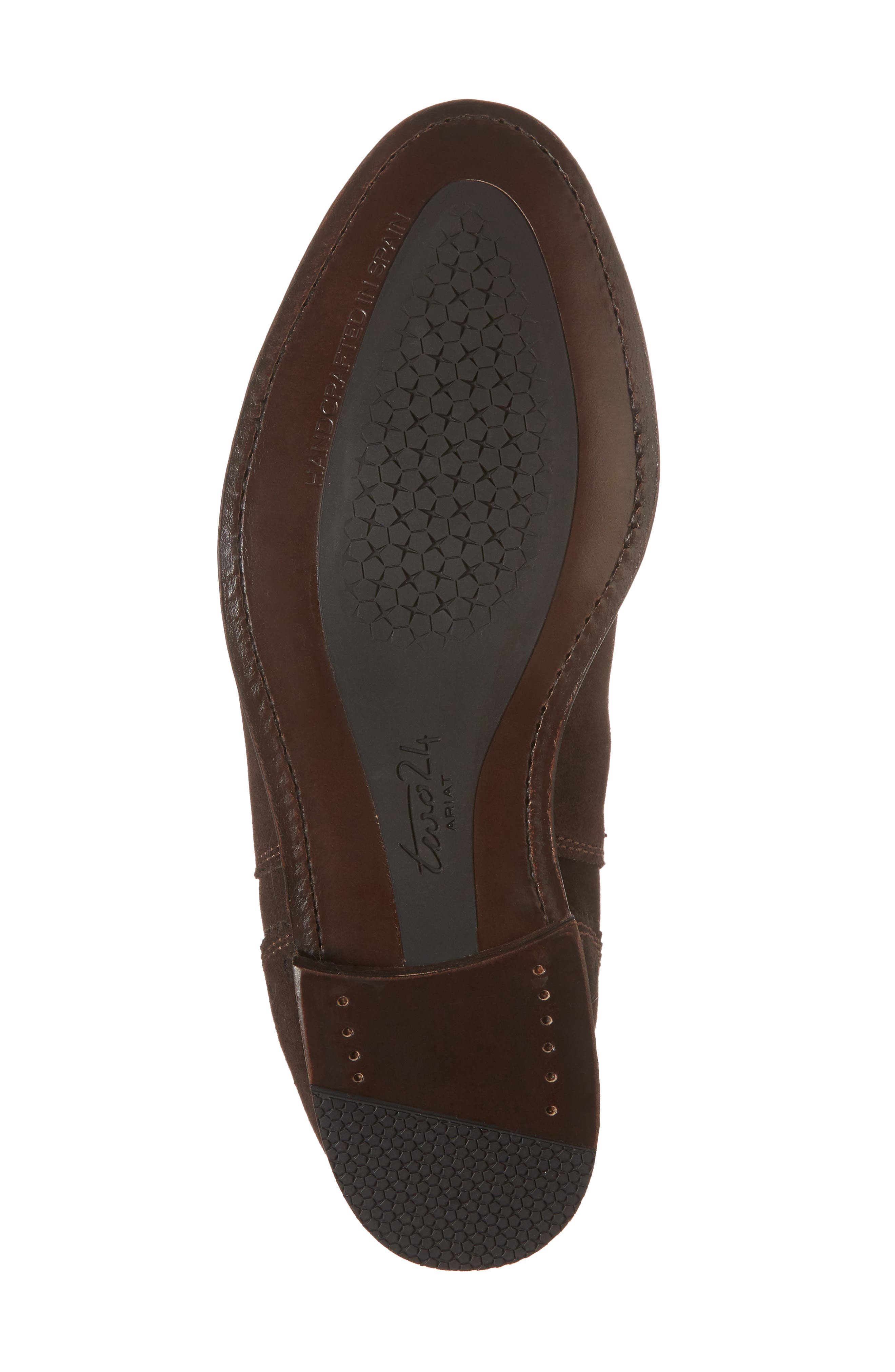 Benissa Lux Chelsea Boot,                             Alternate thumbnail 6, color,                             Brown Suede