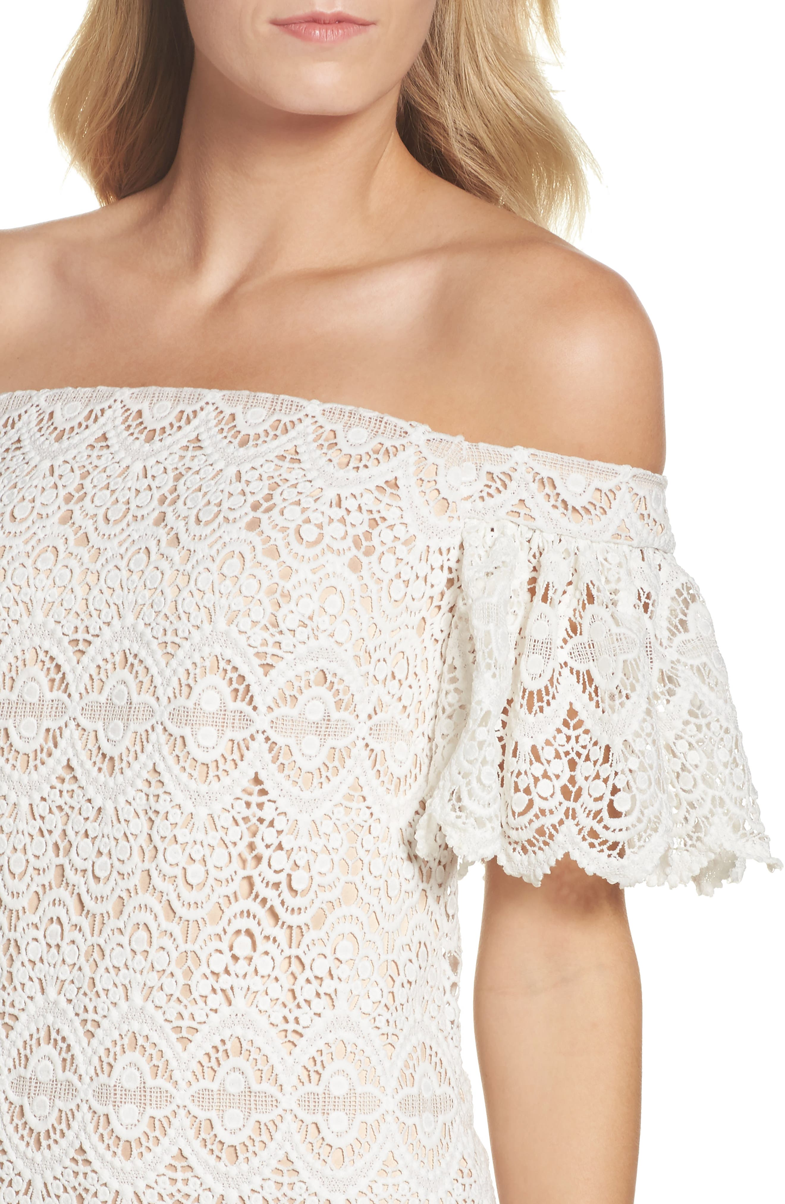 Alternate Image 4  - Eliza J Off the Shoulder Lace Dress