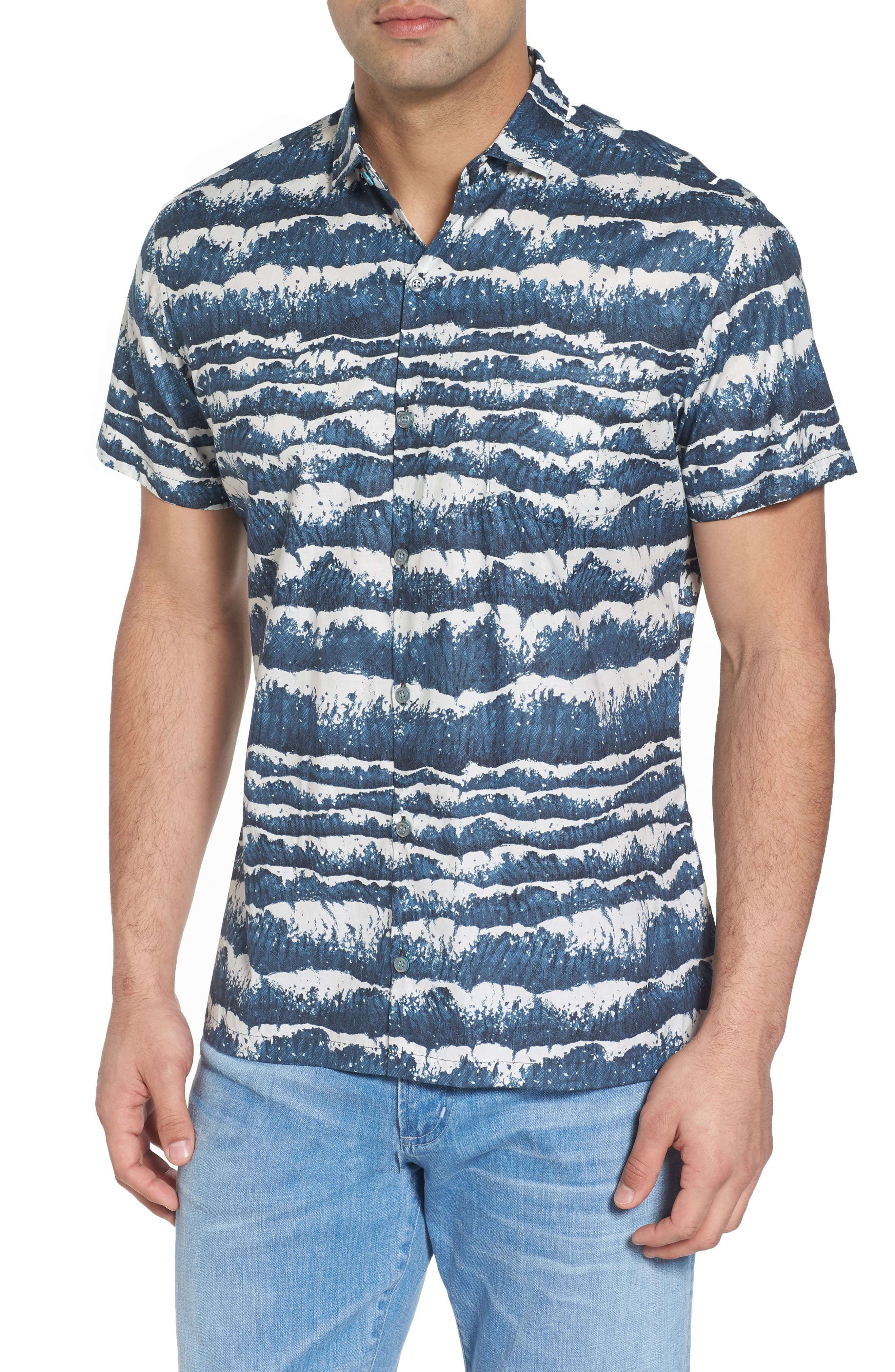 Sport Shirt,                         Main,                         color, Charcoal