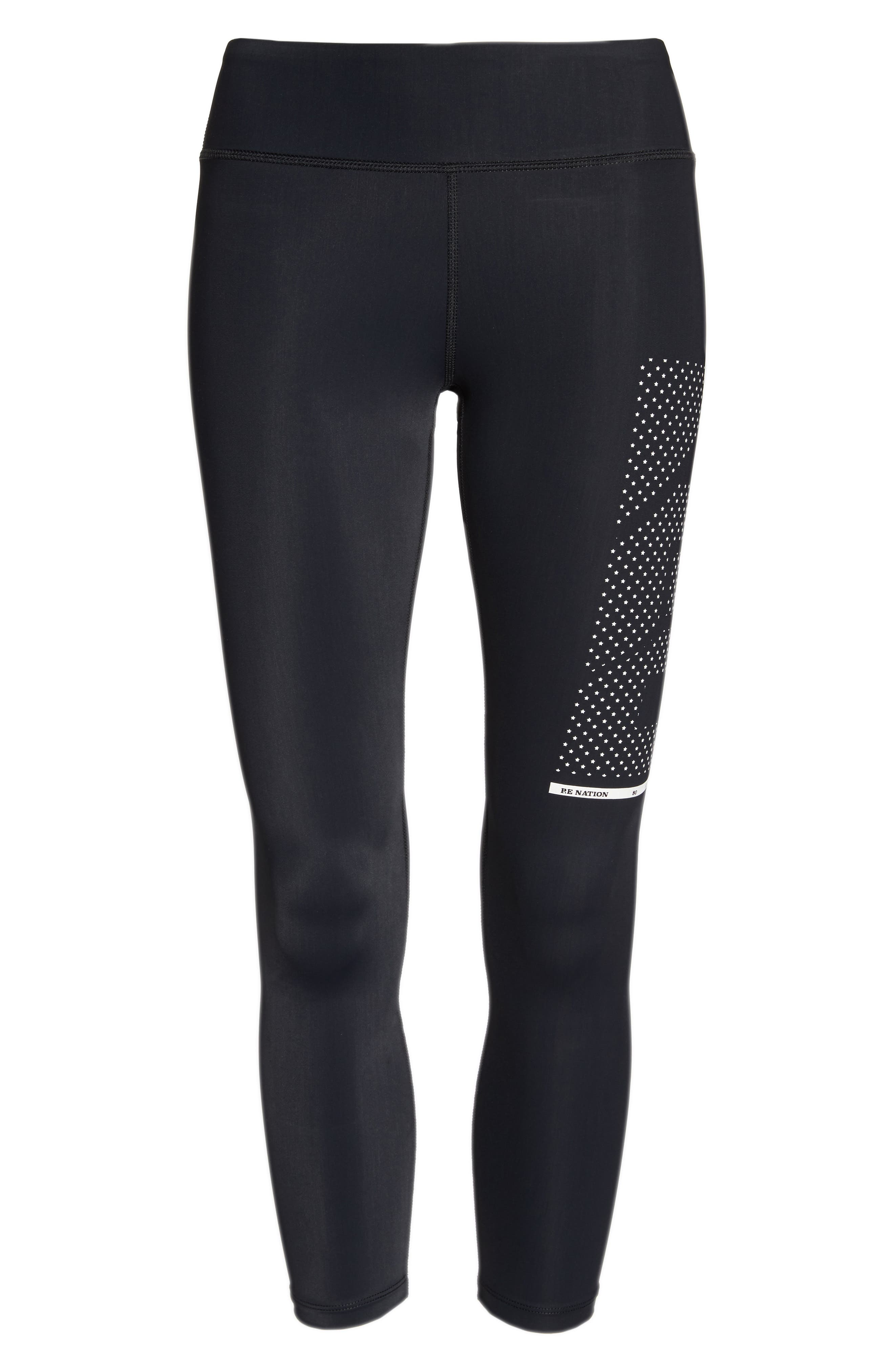 The Contender Leggings,                             Alternate thumbnail 7, color,                             Black