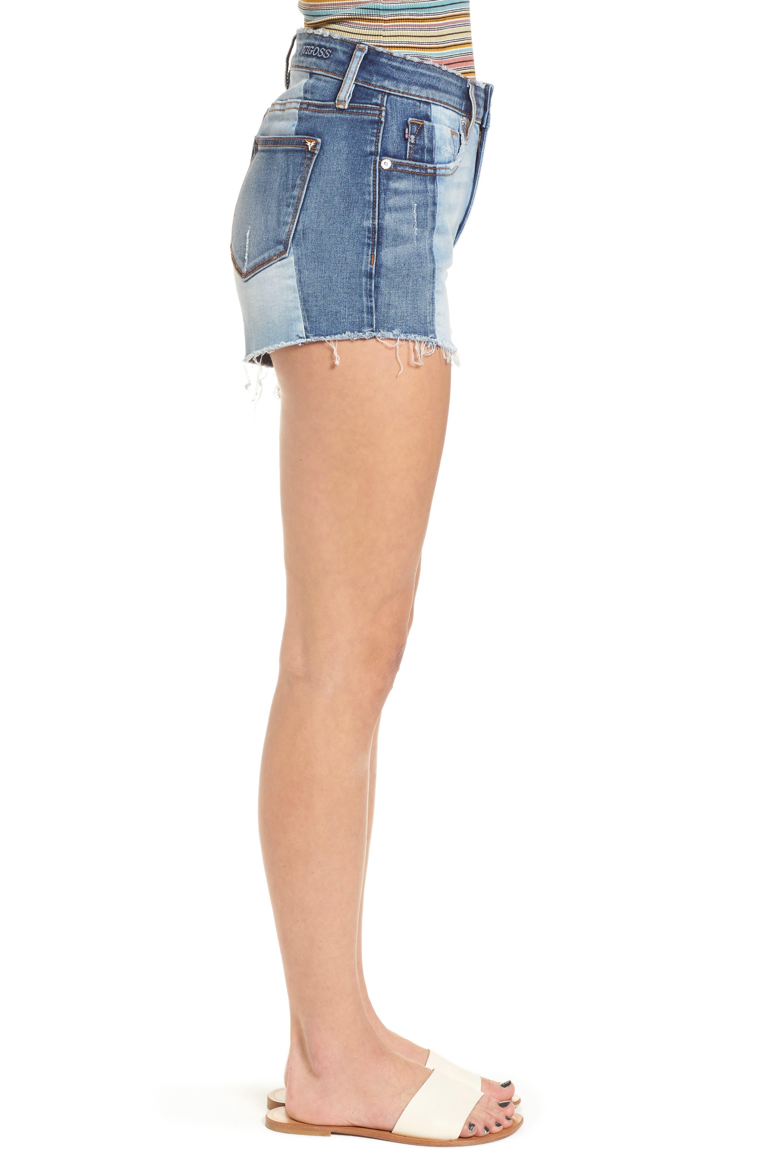 Alternate Image 3  - Vigoss Colorblock Denim Shorts