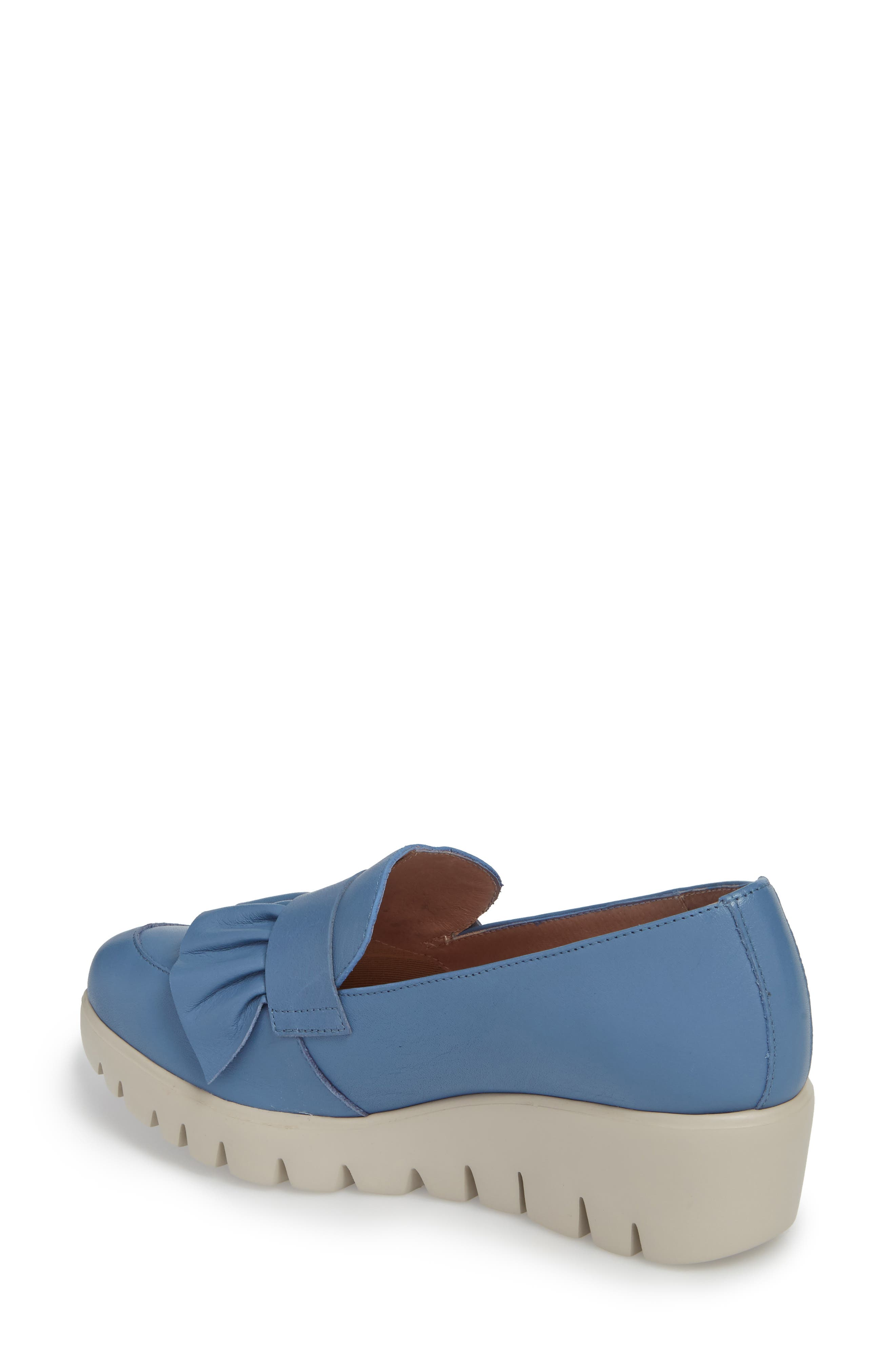 Loafer Wedge,                             Alternate thumbnail 2, color,                             Jeans Leather