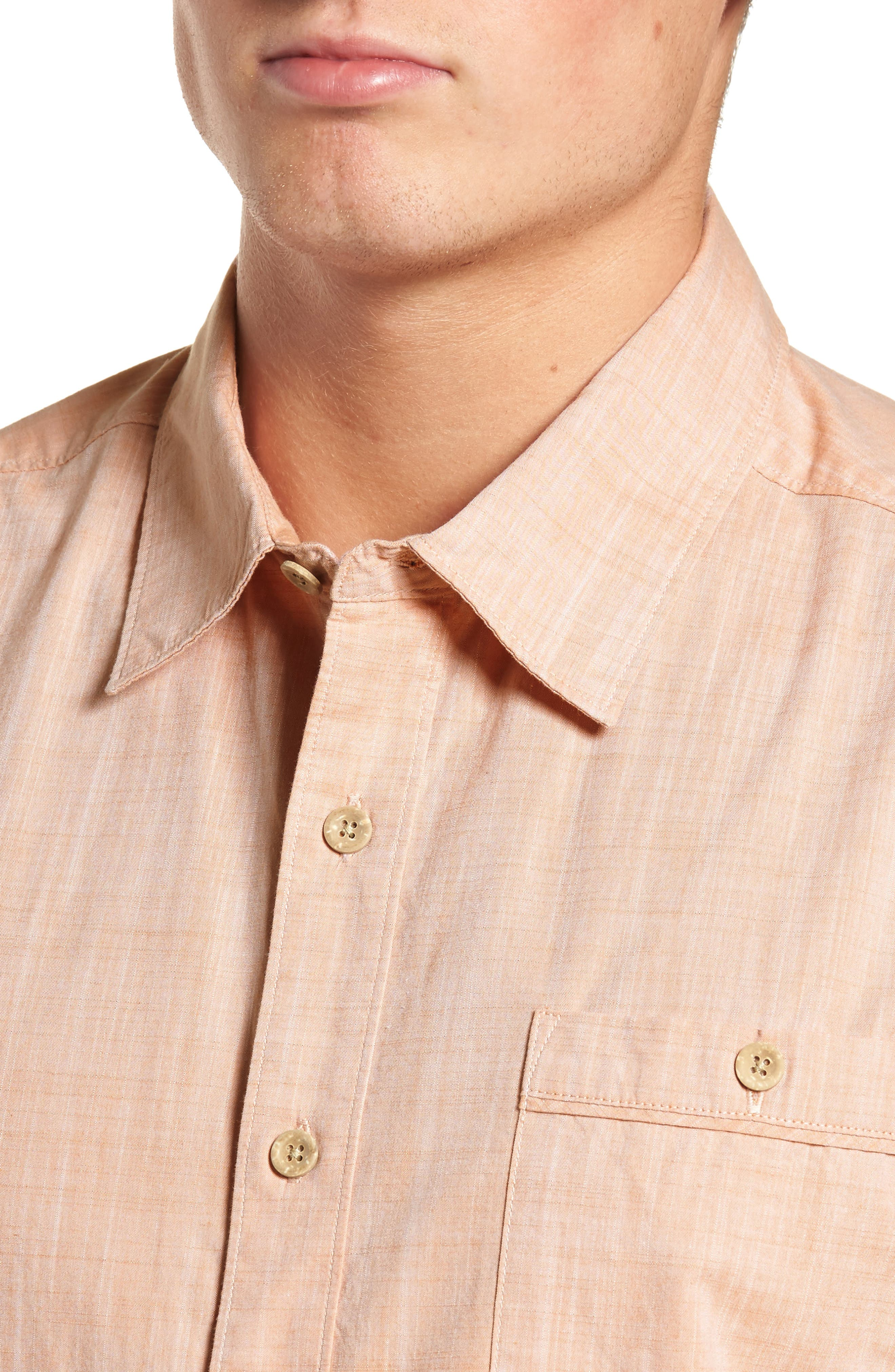 Mai Tai Regular Fit Sport Shirt,                             Alternate thumbnail 2, color,                             Papaya