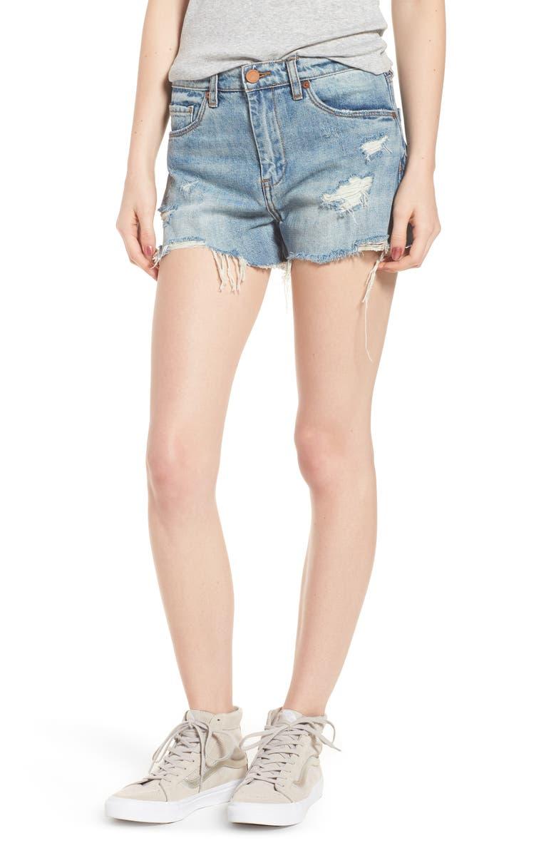 Panic Prevention Ripped Cutoff Denim Shorts