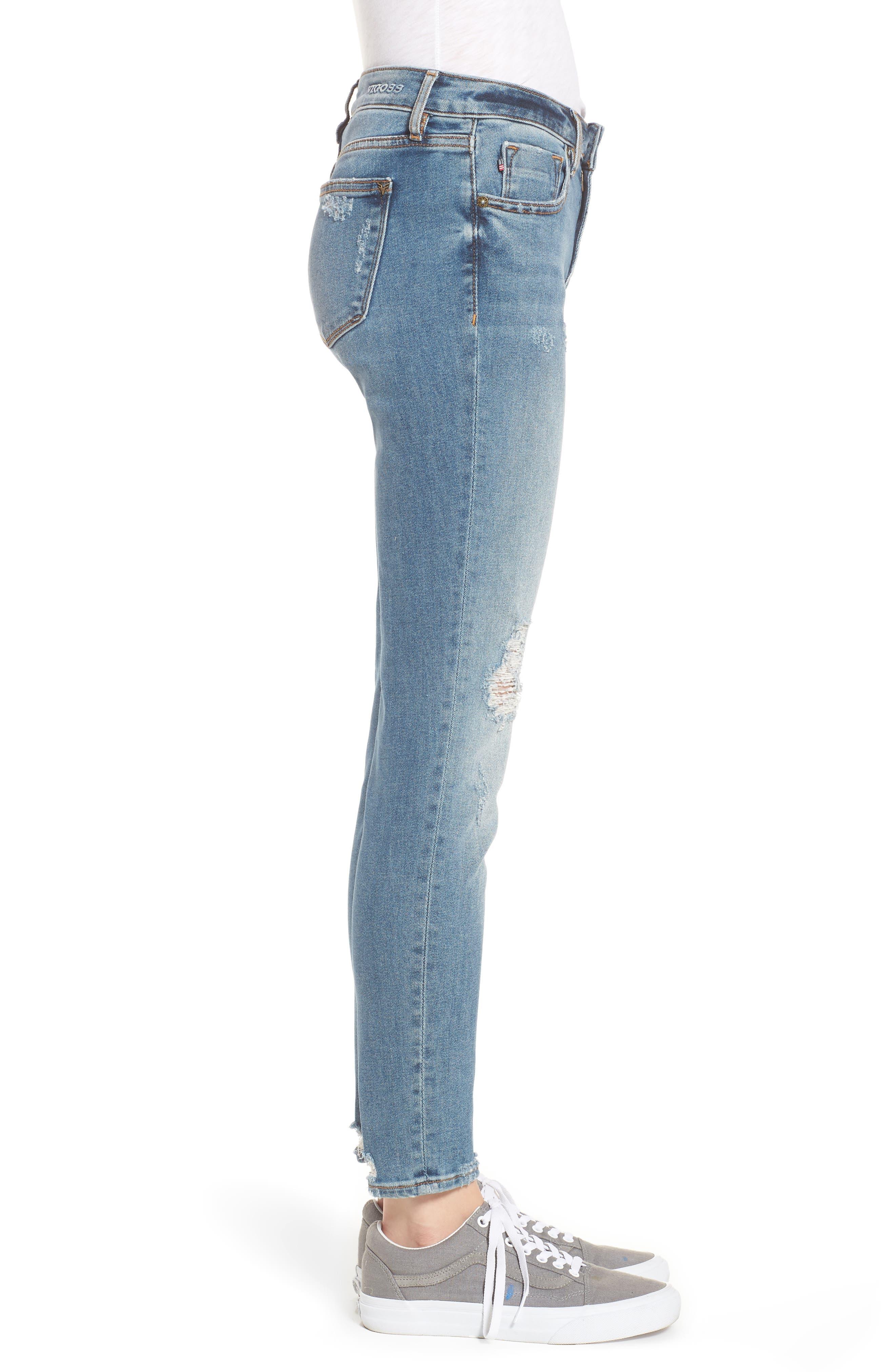 Jagger Decon Distressed Skinny Jeans,                             Alternate thumbnail 3, color,                             Medium Wash