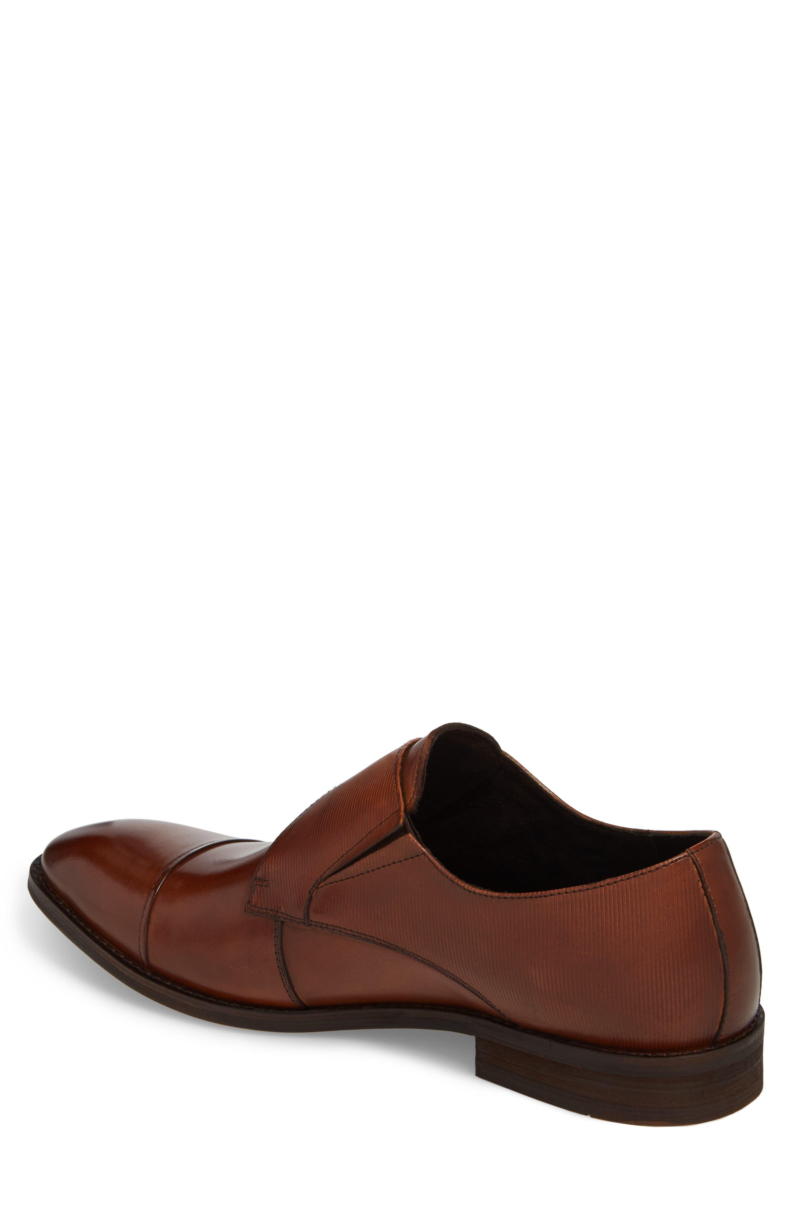 Courage Monk Strap Shoe,                             Alternate thumbnail 2, color,                             Cognac Leather