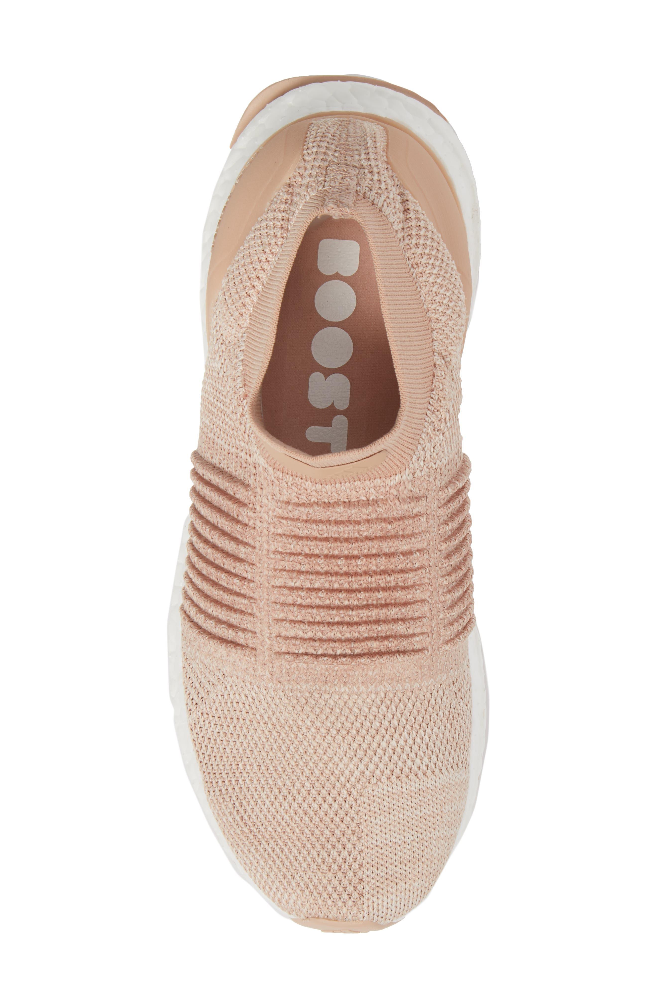 UltraBoost Laceless Running Shoe,                             Alternate thumbnail 5, color,                             Ash Pearl/ Ash Pearl