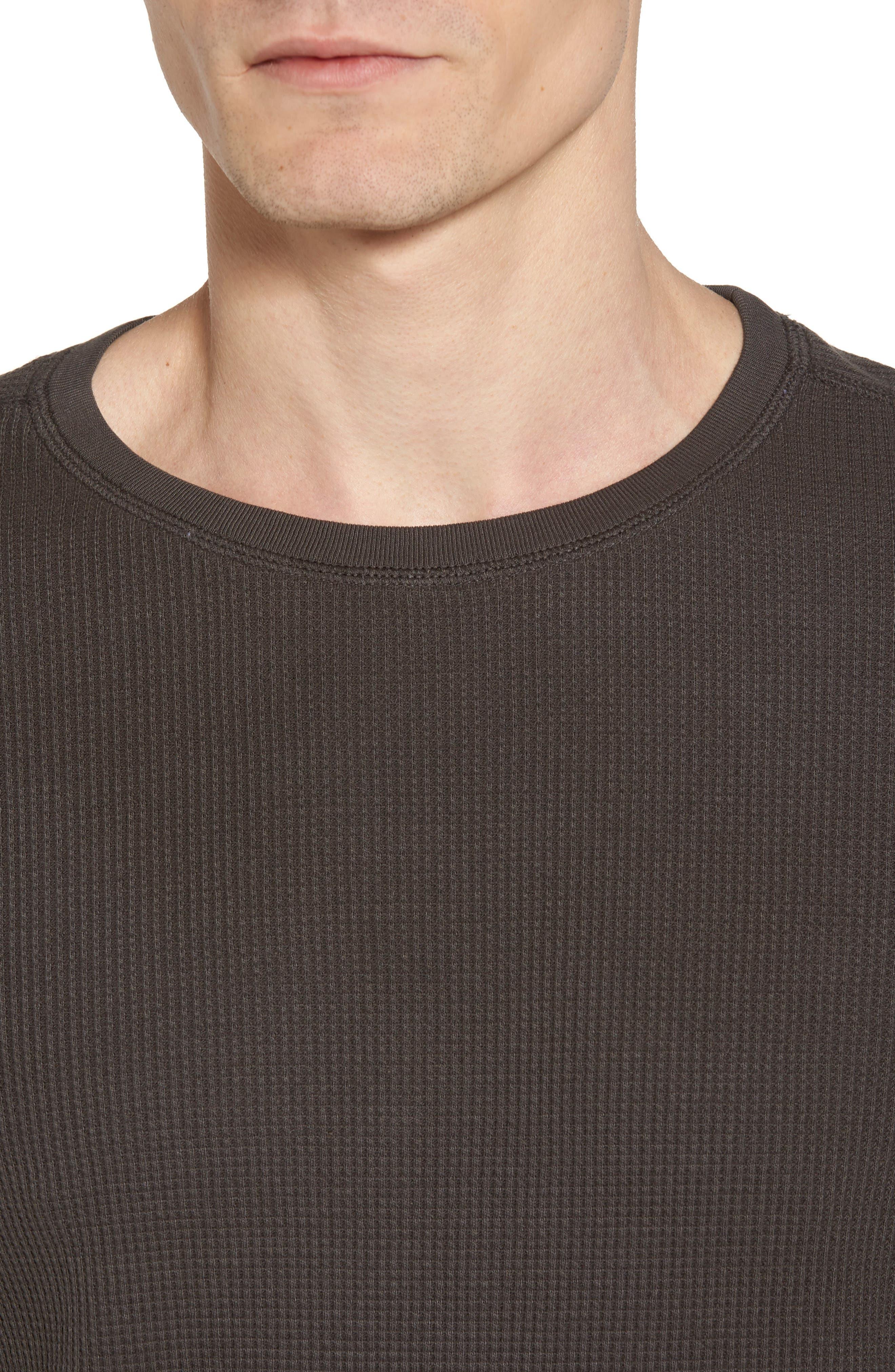 Trevor Slim Fit Crewneck Shirt,                             Alternate thumbnail 4, color,                             Smoke Grey