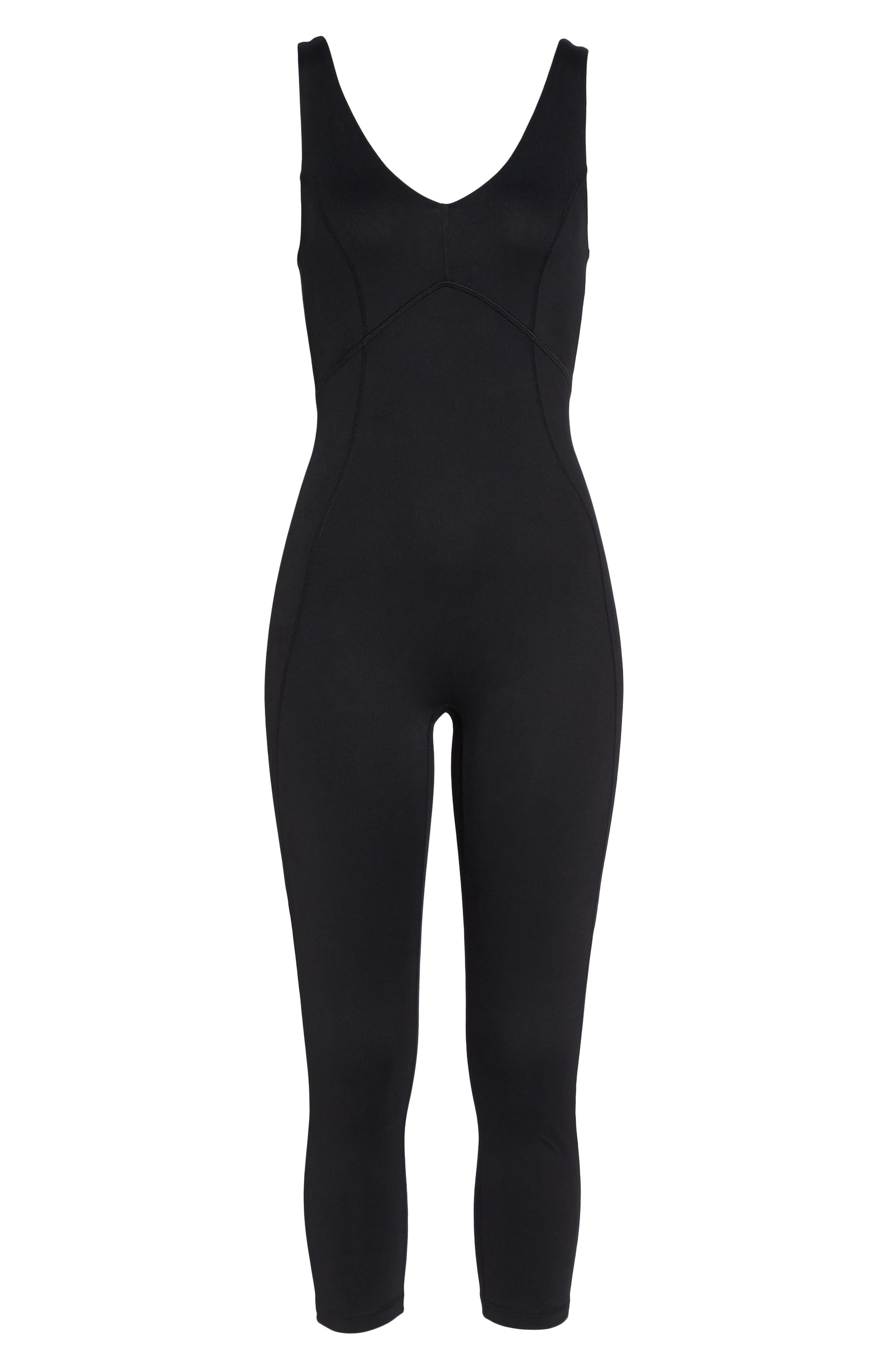 Lighten Up Crop Bodysuit,                             Alternate thumbnail 7, color,                             Black
