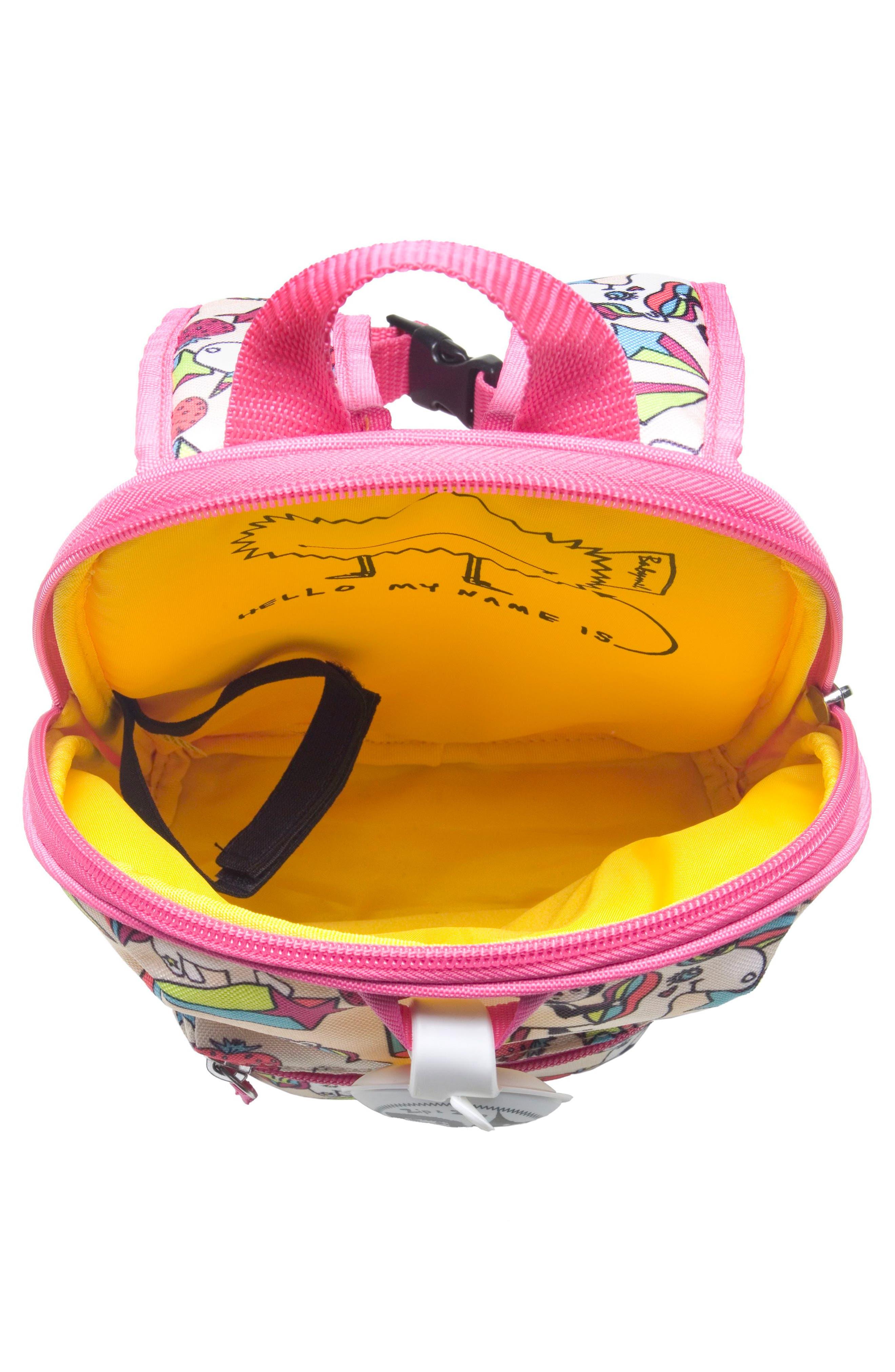 Zip & Zoe Unicorn Mini Backpack,                             Alternate thumbnail 4, color,                             Unicorn