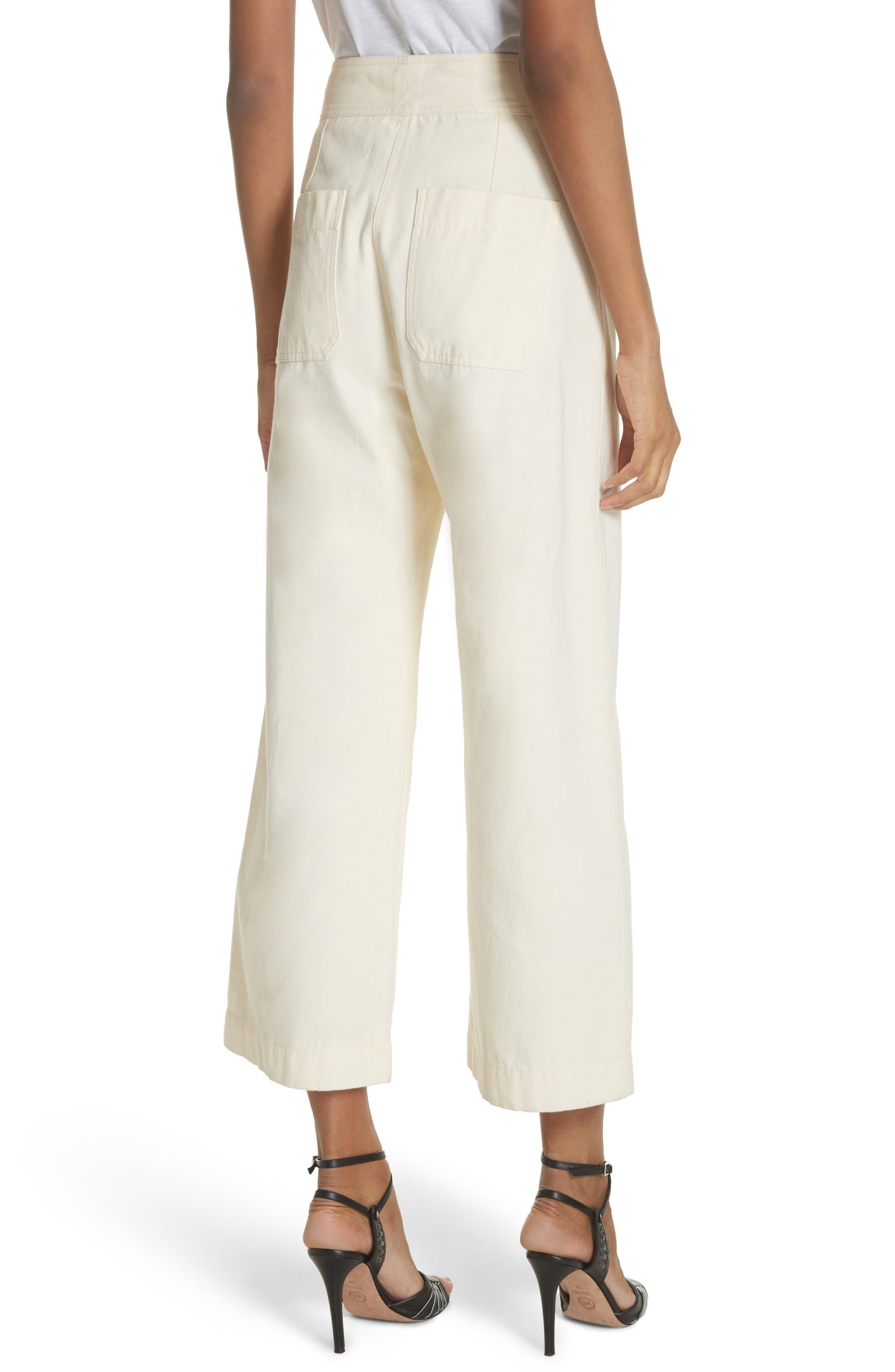 Caymen Cotton Gaucho Pants,                             Alternate thumbnail 2, color,                             Natural
