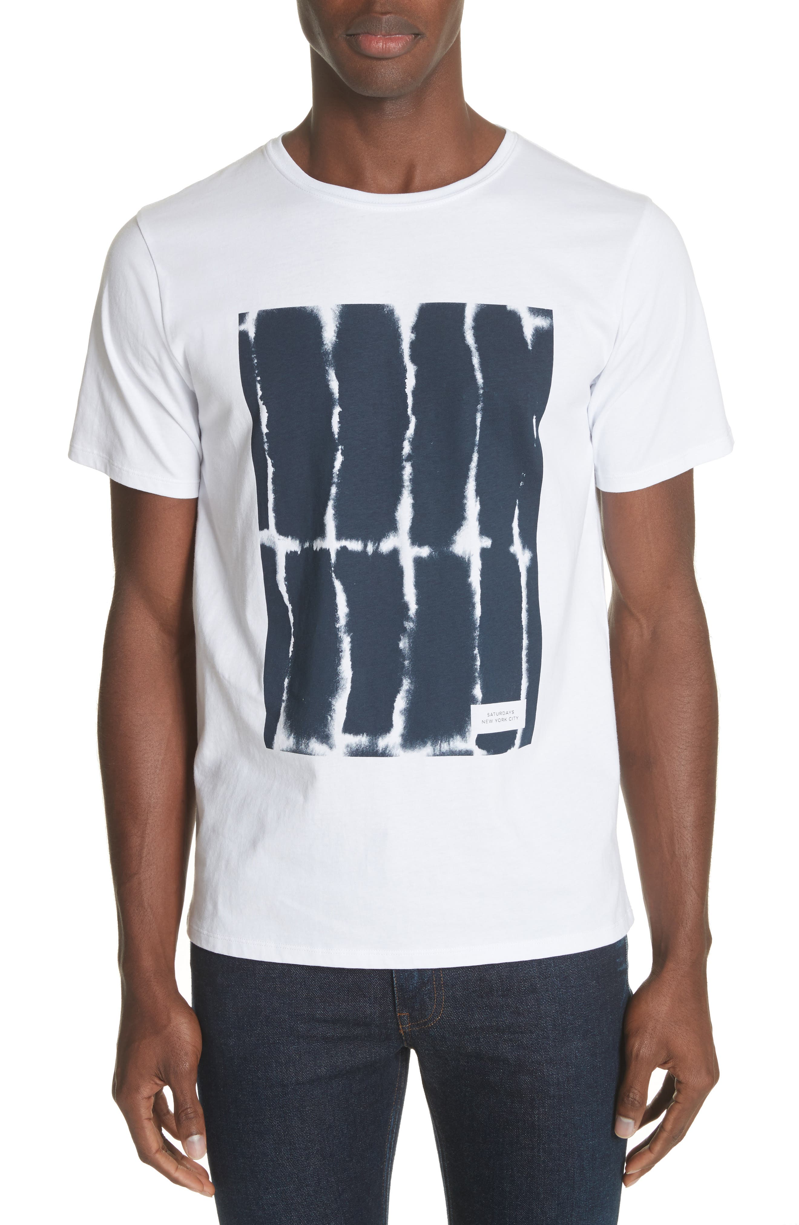 Water Stack Graphic T-Shirt,                             Main thumbnail 1, color,                             White