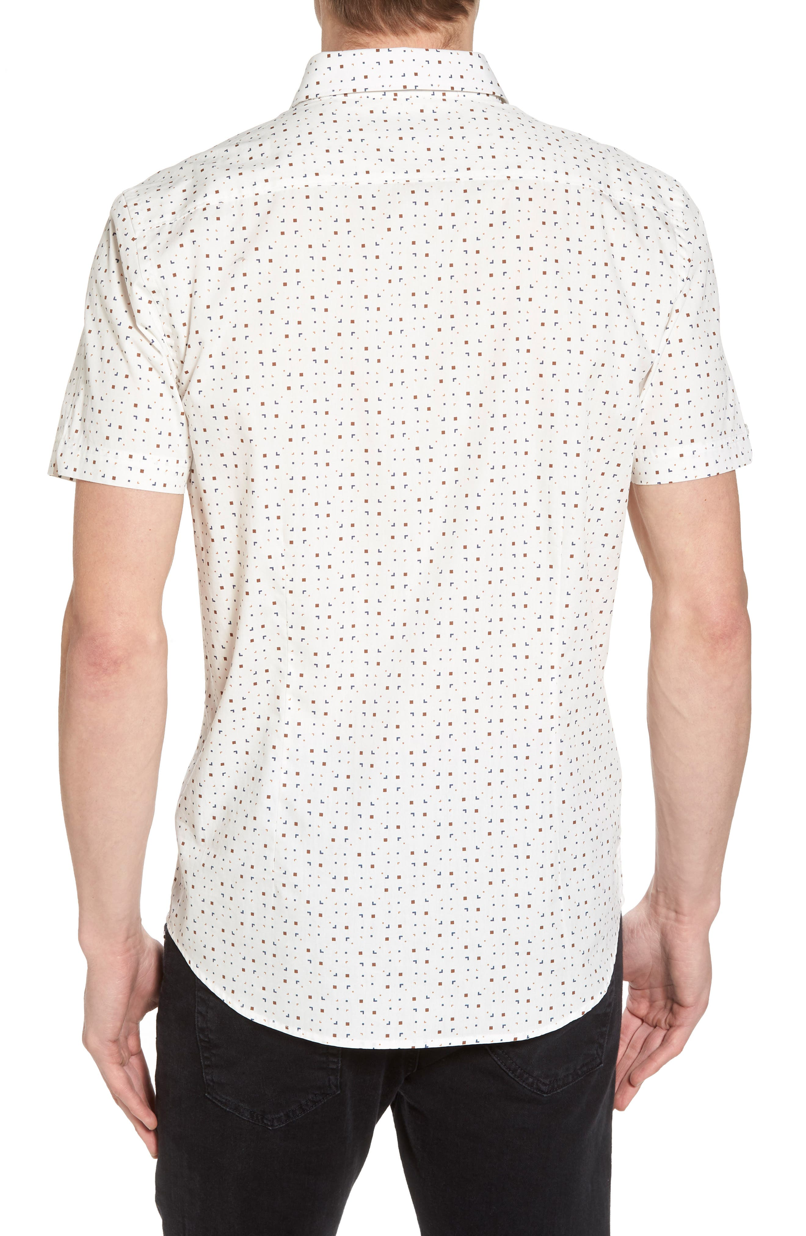 Scattered Geo Woven Shirt,                             Alternate thumbnail 2, color,                             Off White