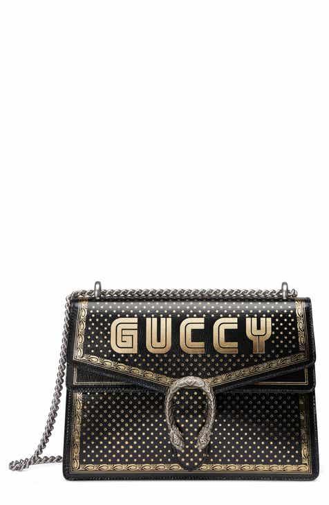 98efe2fb10d1 Gucci Dionysus Moon   Stars Leather Shoulder Bag