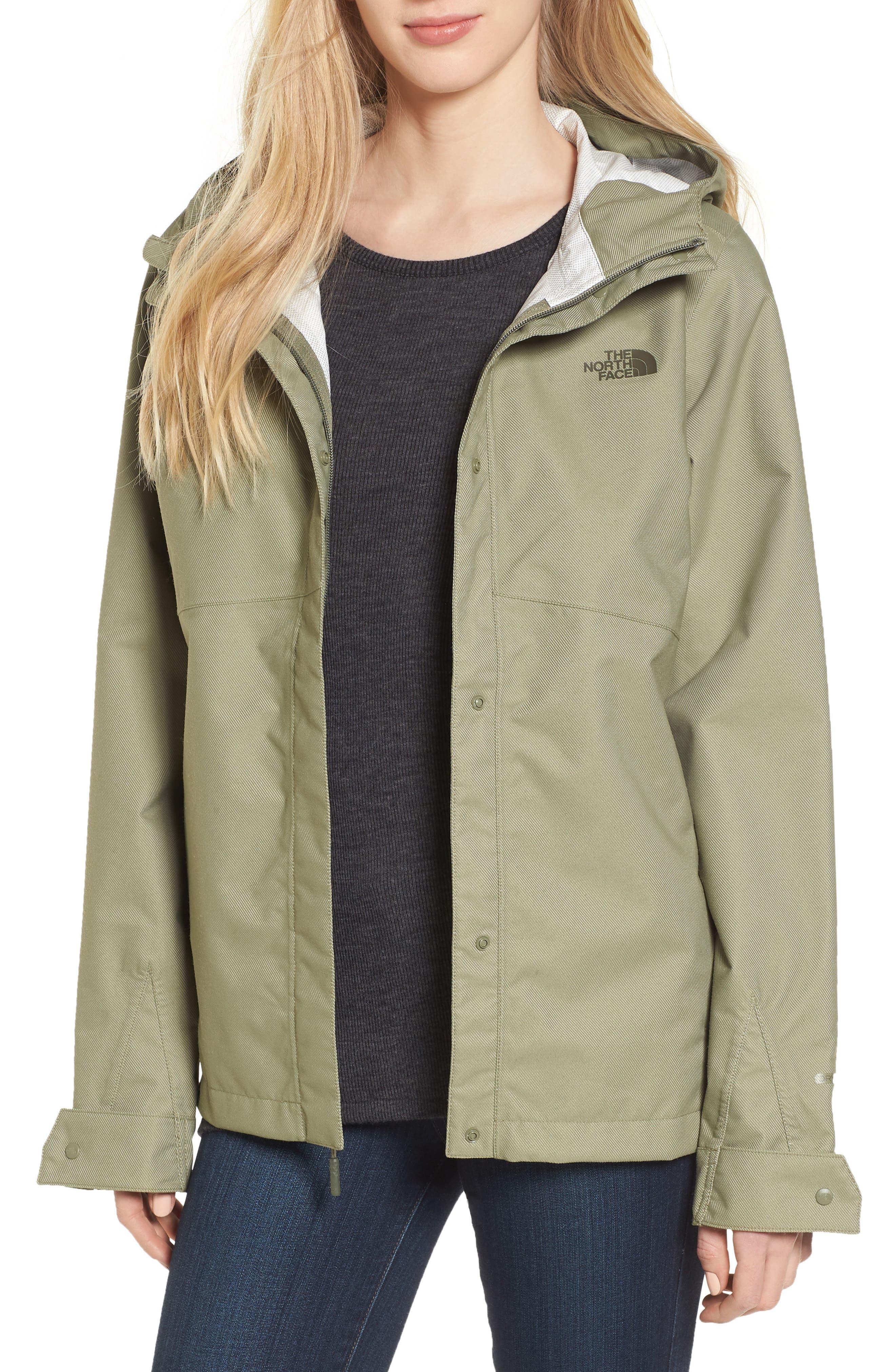 Berrien Waterproof Jacket,                         Main,                         color, Deep Lichen Green Denim