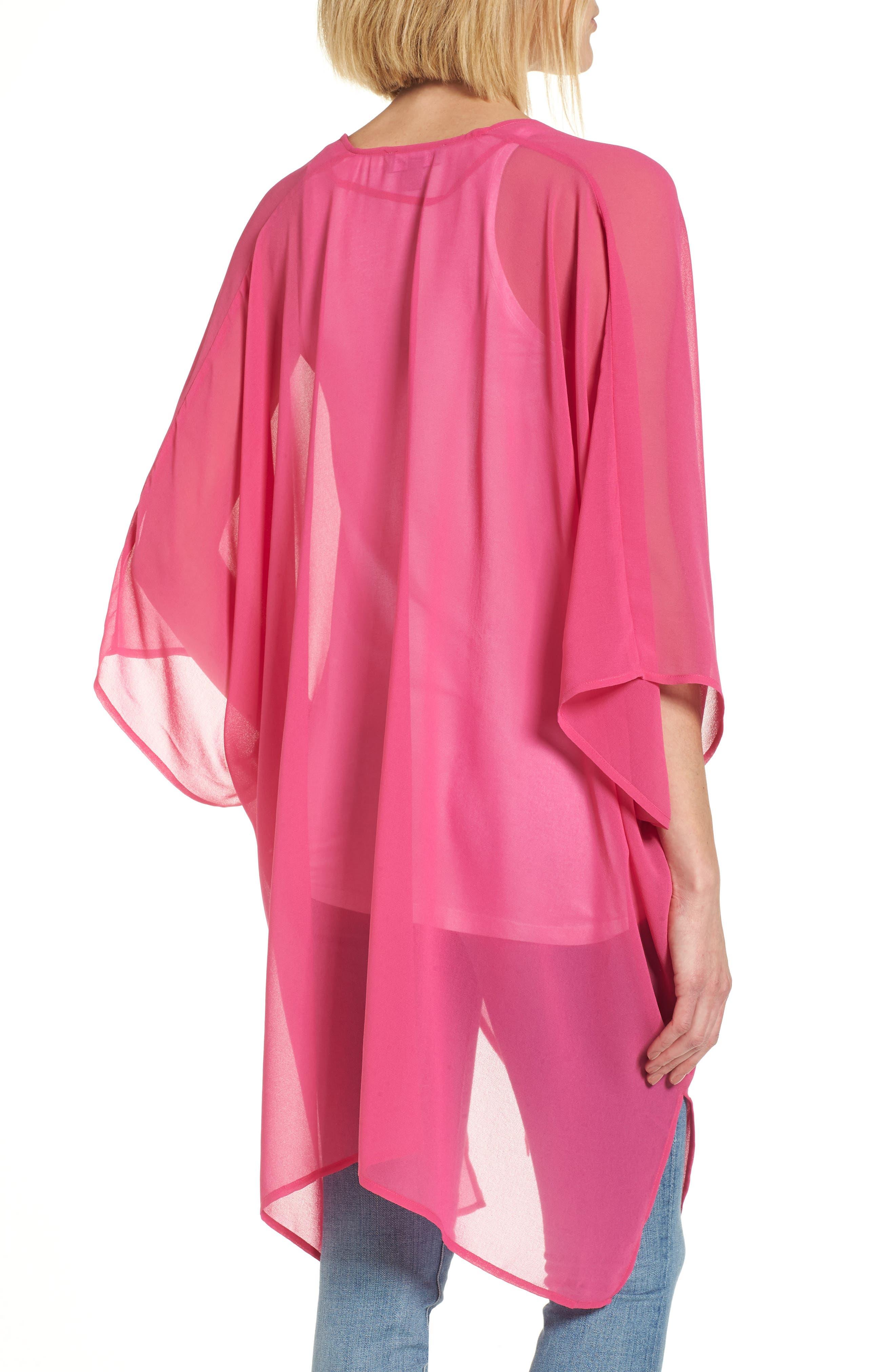 Alternate Image 2  - Nordstrom Chiffon Cover-Up Kimono